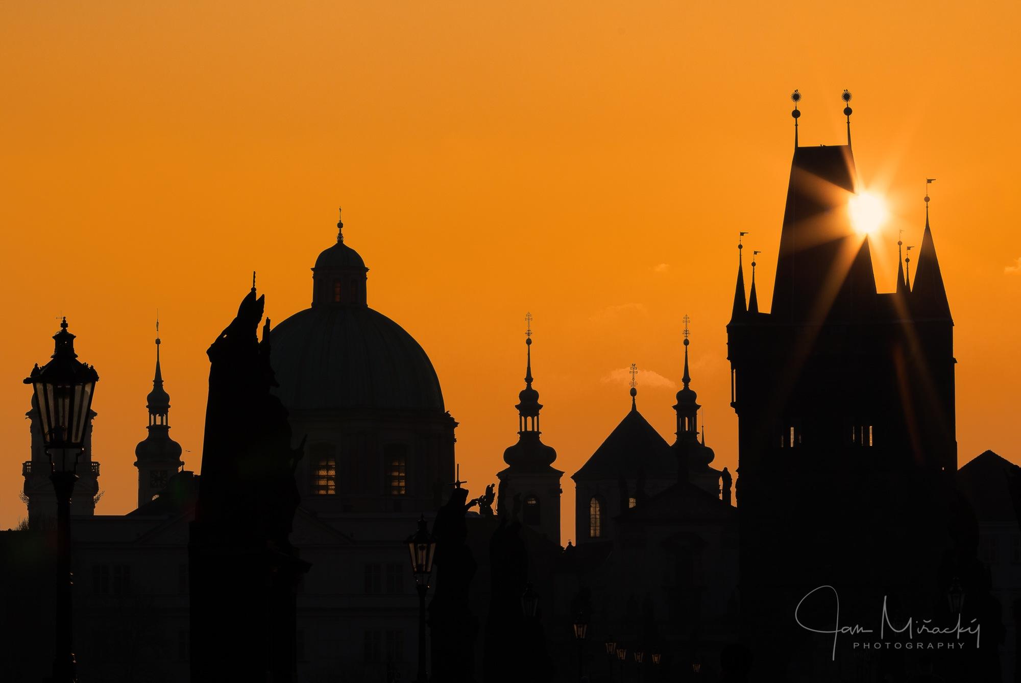 Sunrise at Charles bridge by Jan Miřacký
