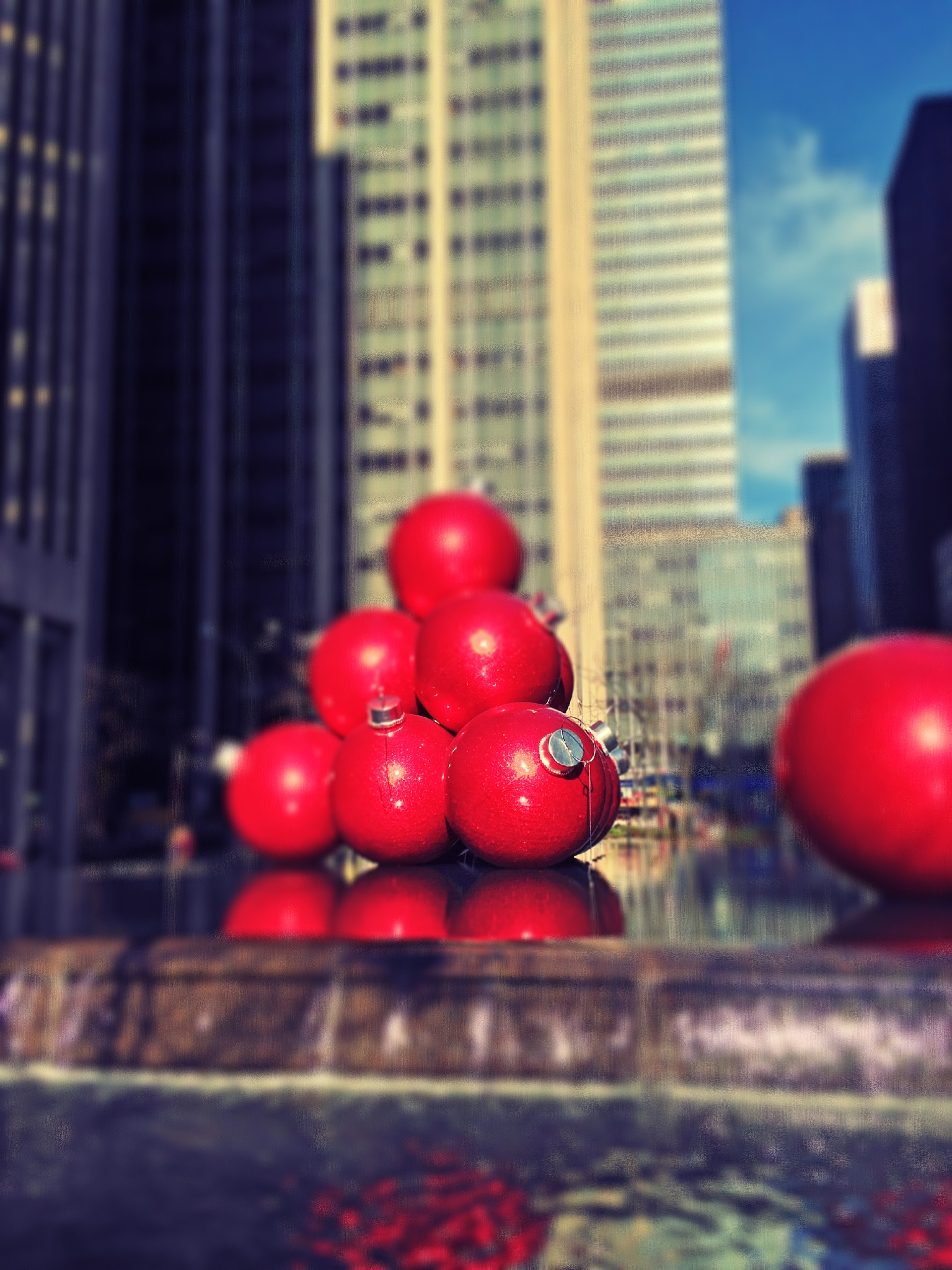 Christmas in New York iPhone  by stevedbounds
