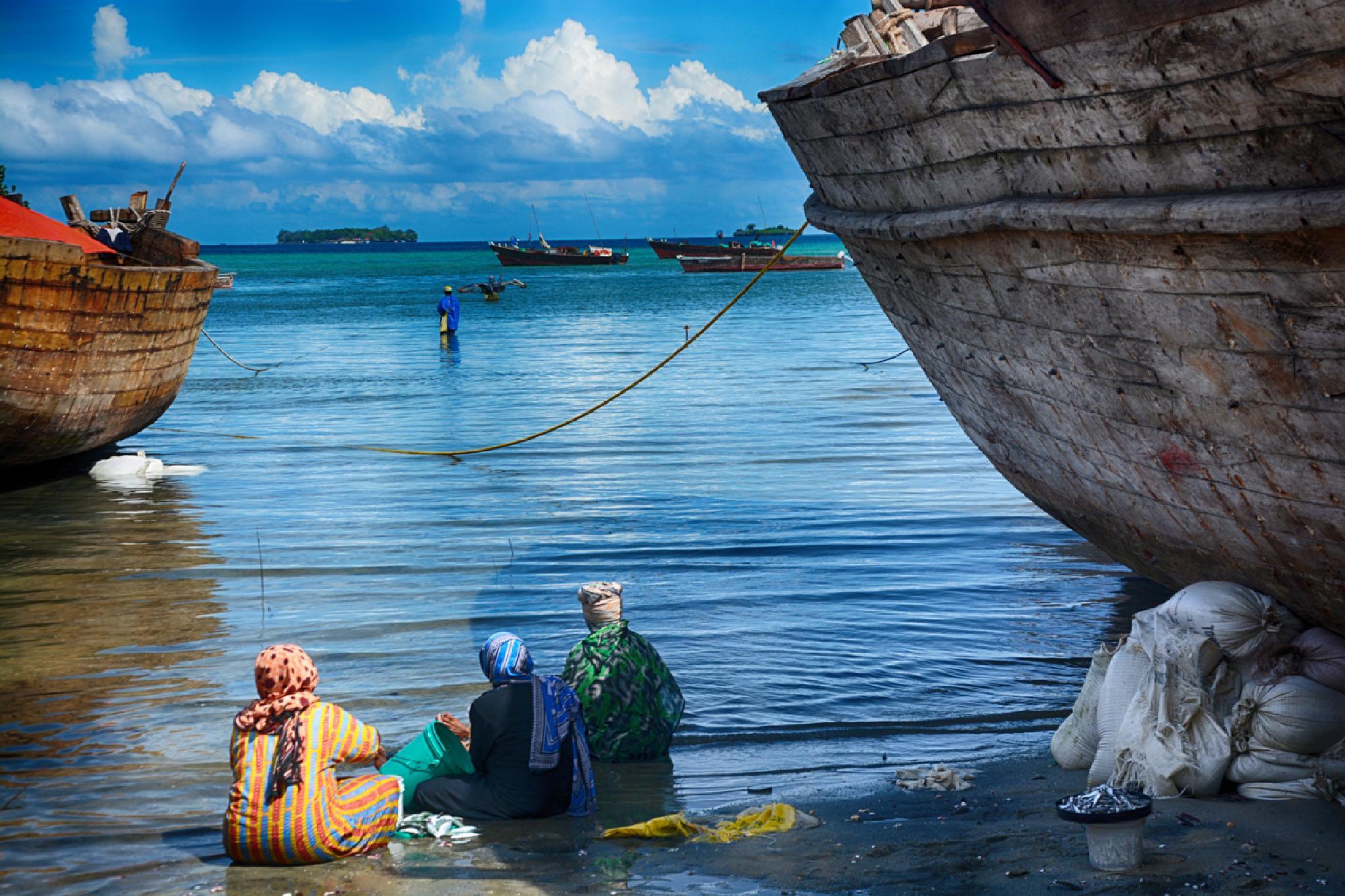 fisherwomen of zanzibar by Abdurrahman Aksoy