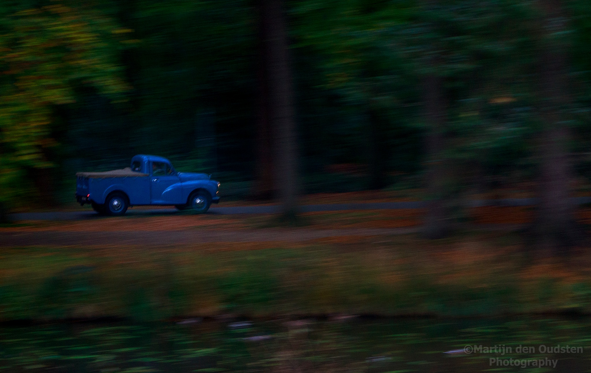 Old blue car by Martijn Den Oudsten