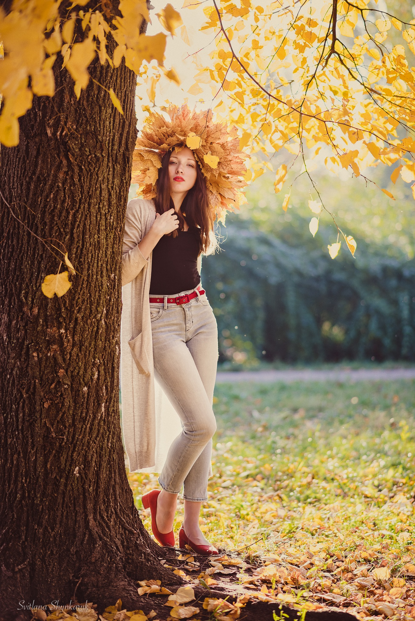 Girl-autumn by Svitlana Shynkaruk