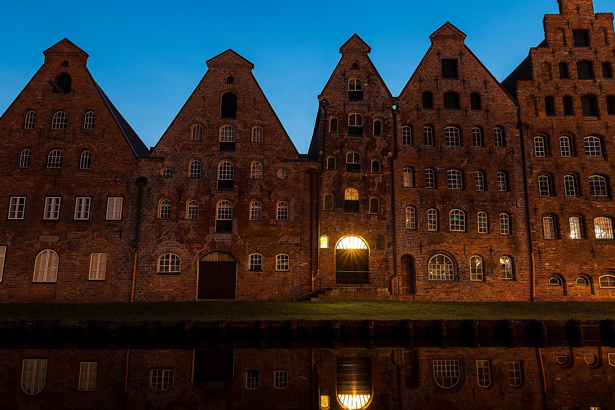 Old storehouse Lübeck by Salah Ait Mokhtar