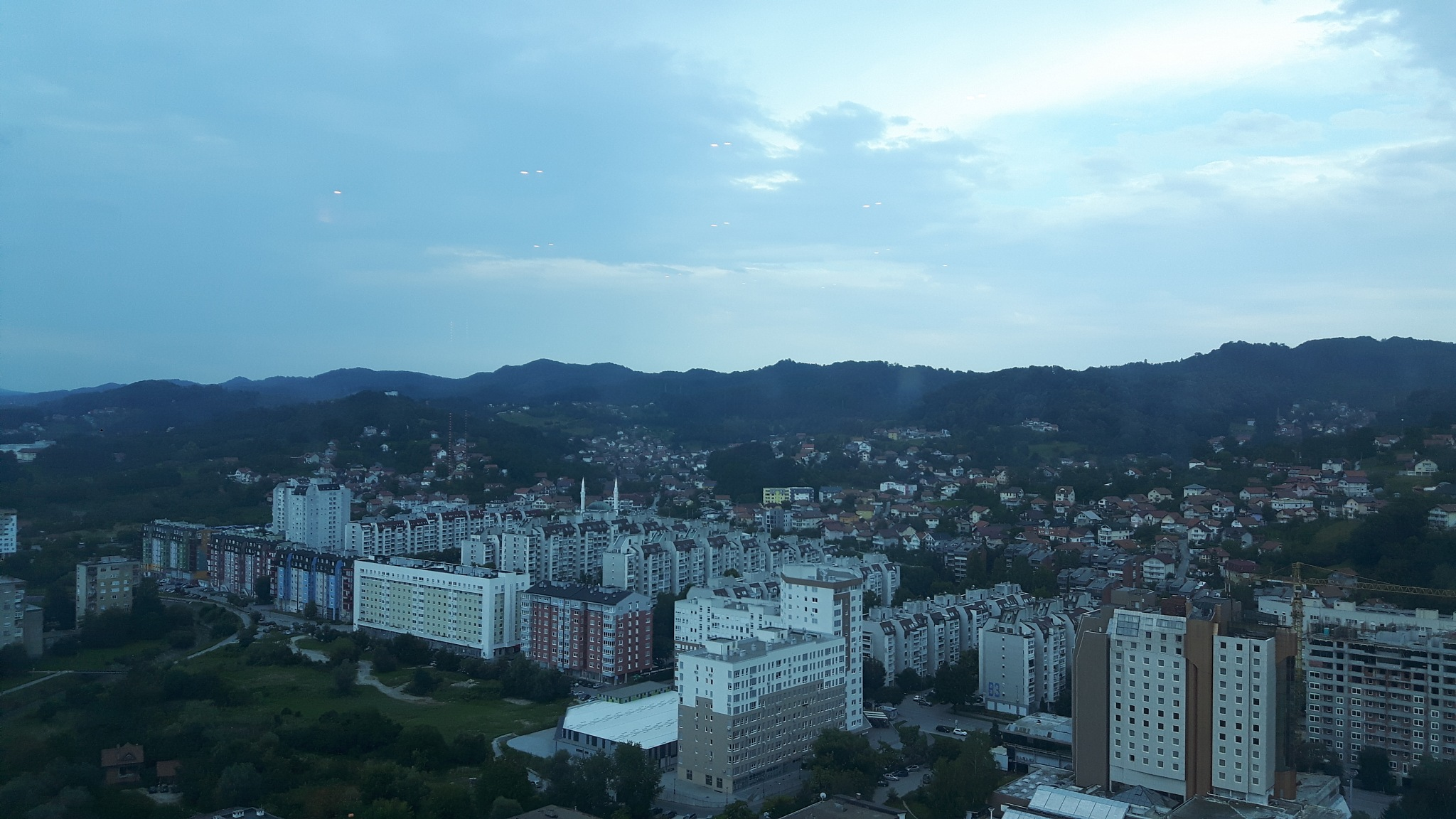 Tuzla seen from 20th floor of the hotel Mellain by Mevludin_Hasanovic