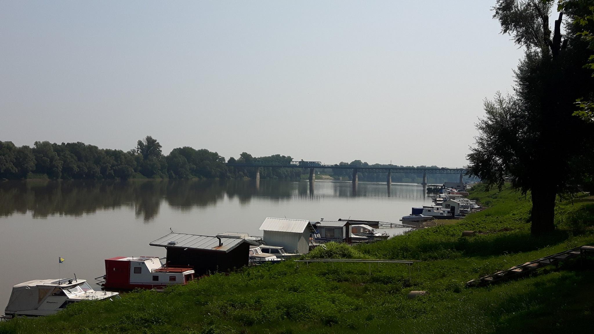 River Sava north natural border betwee Bosnia this bank and Croatia across the river by Mevludin_Hasanovic