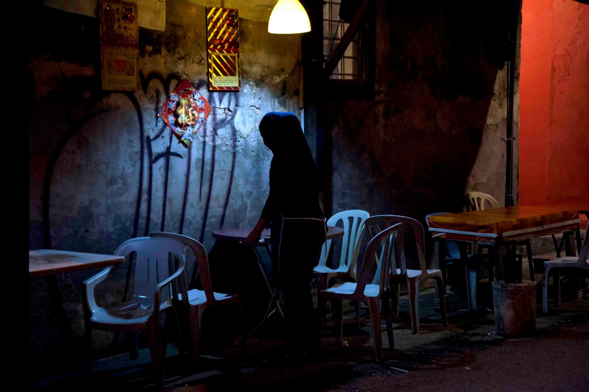 night stall by Mustaffa Tapa Otai