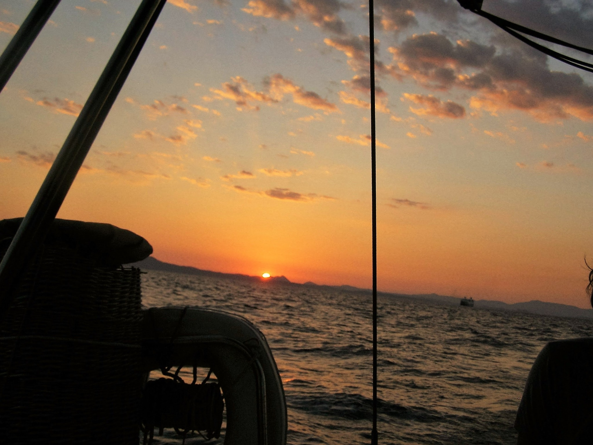 Summer Sunset while sailing the Ionian Sea by Dan Gts