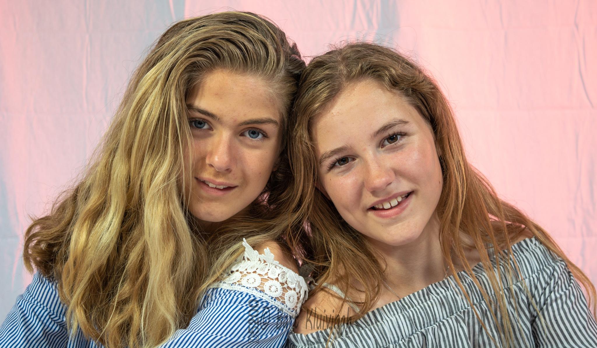 Femke and Annelin by Bart Kluivingh Fotografie
