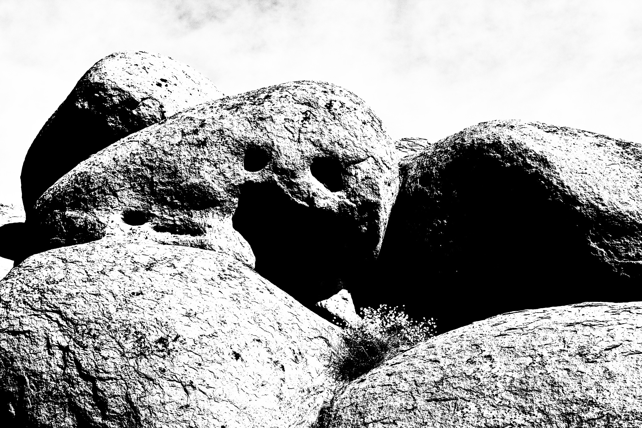 Scary rock... by redfoxartful