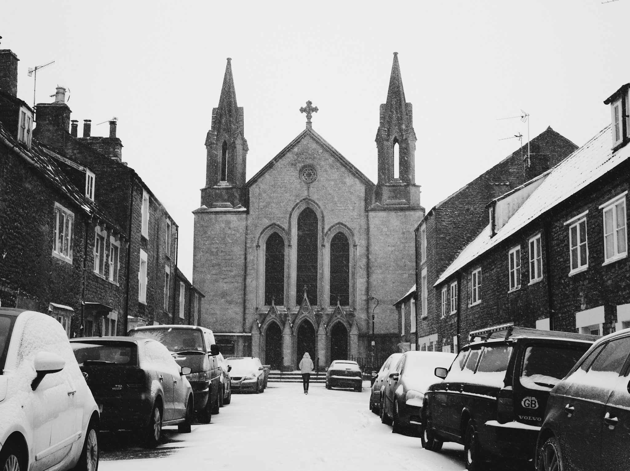 Trinity Church in the Snow by Daniel Weston