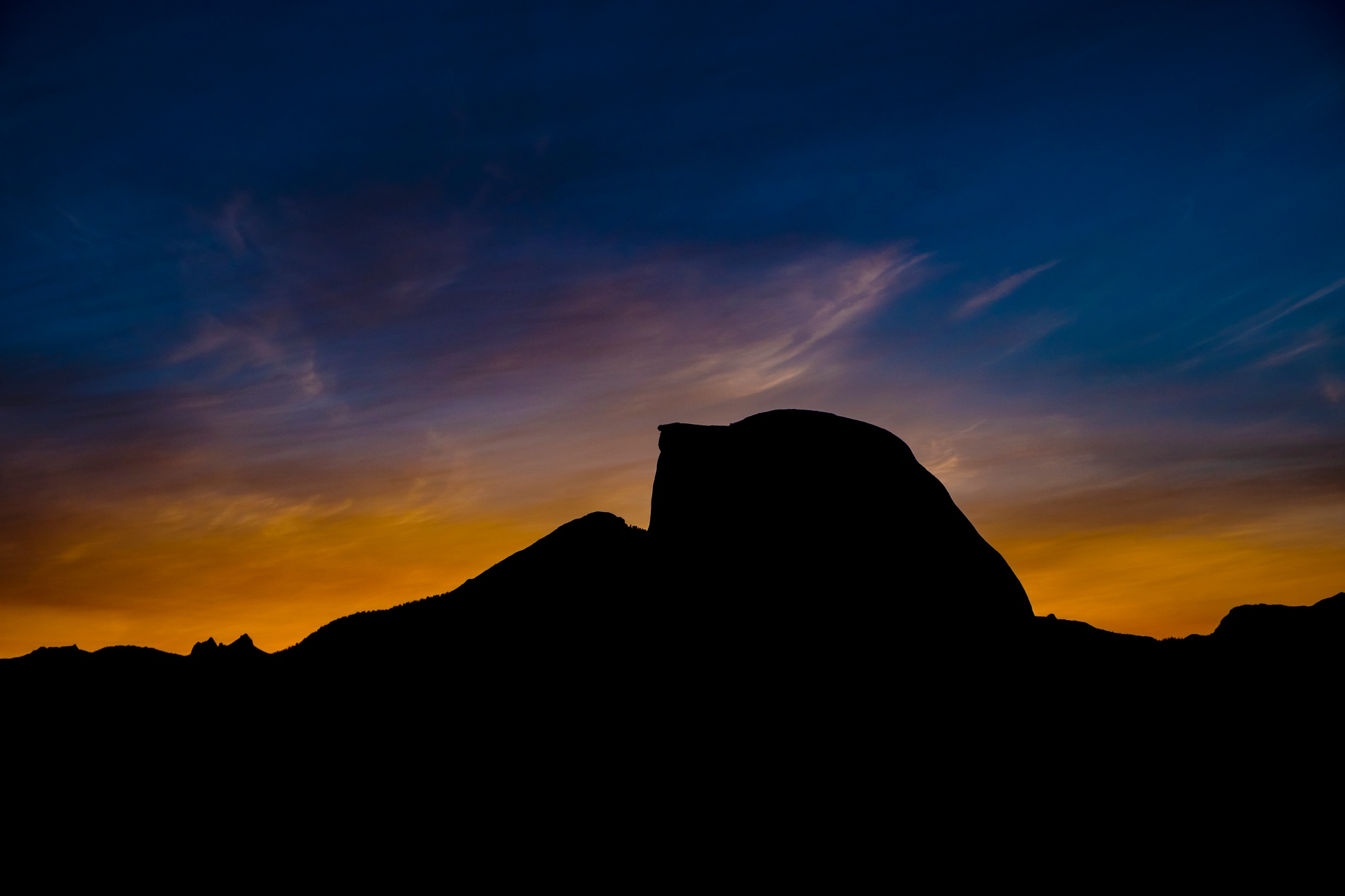 Half Dome Silhouette by G Ammons