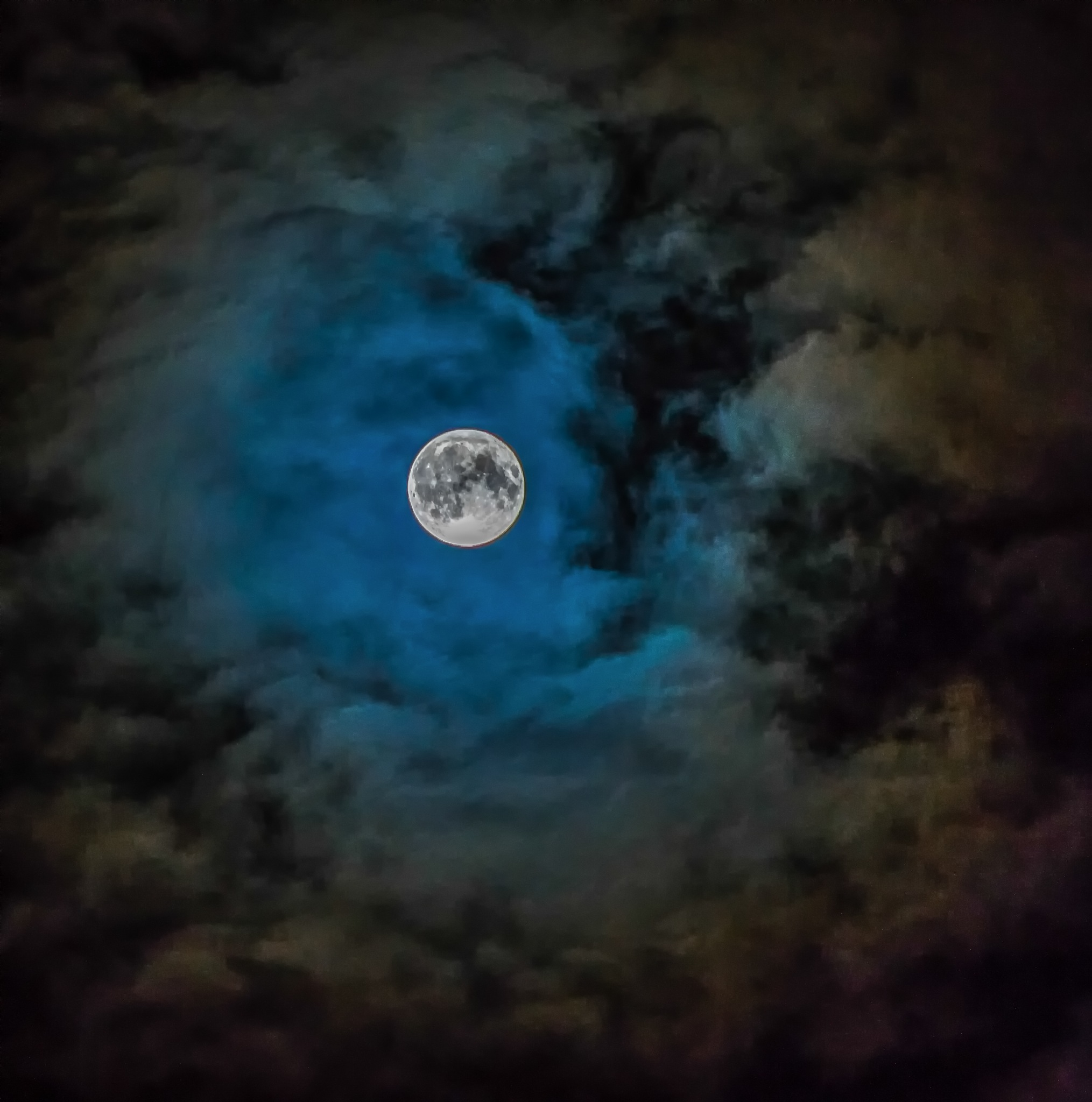 Harvest Moon in the Clouds by Cami Lind