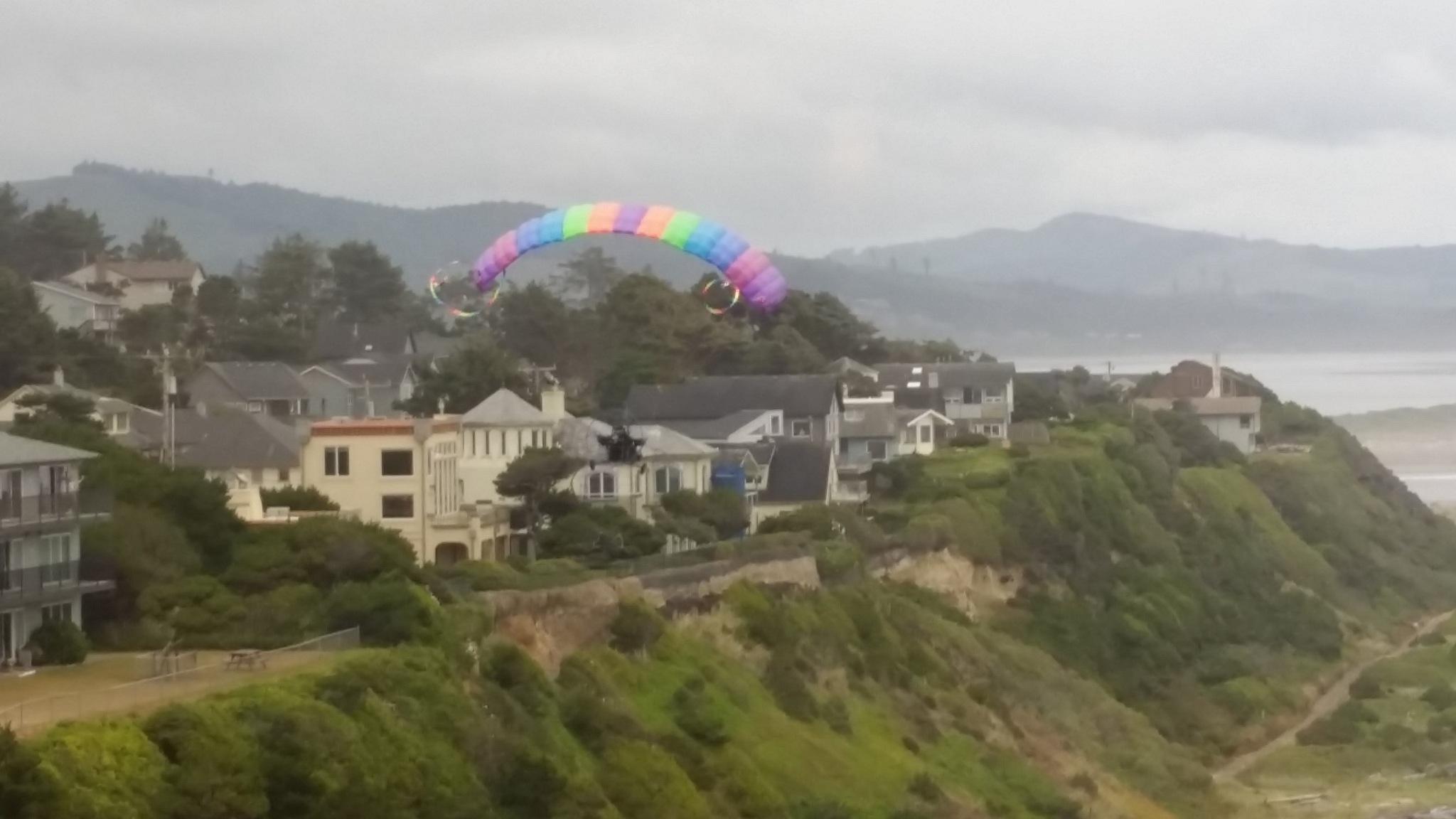 Motorized hang gliding Oregon coast Lincoln City by B56