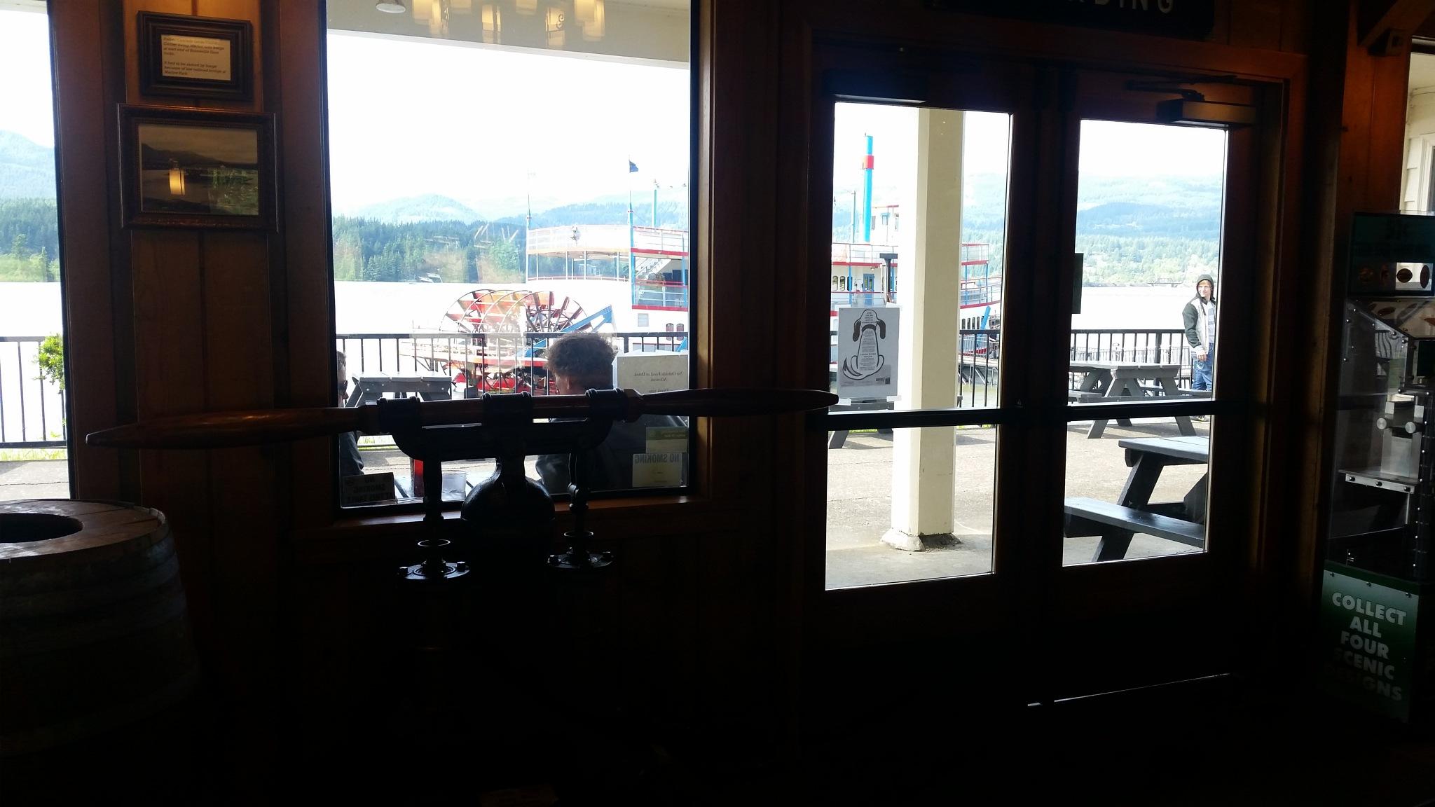 Down in the Cascade Locks Oregon Columbia River sternwheeler restaurant by B56