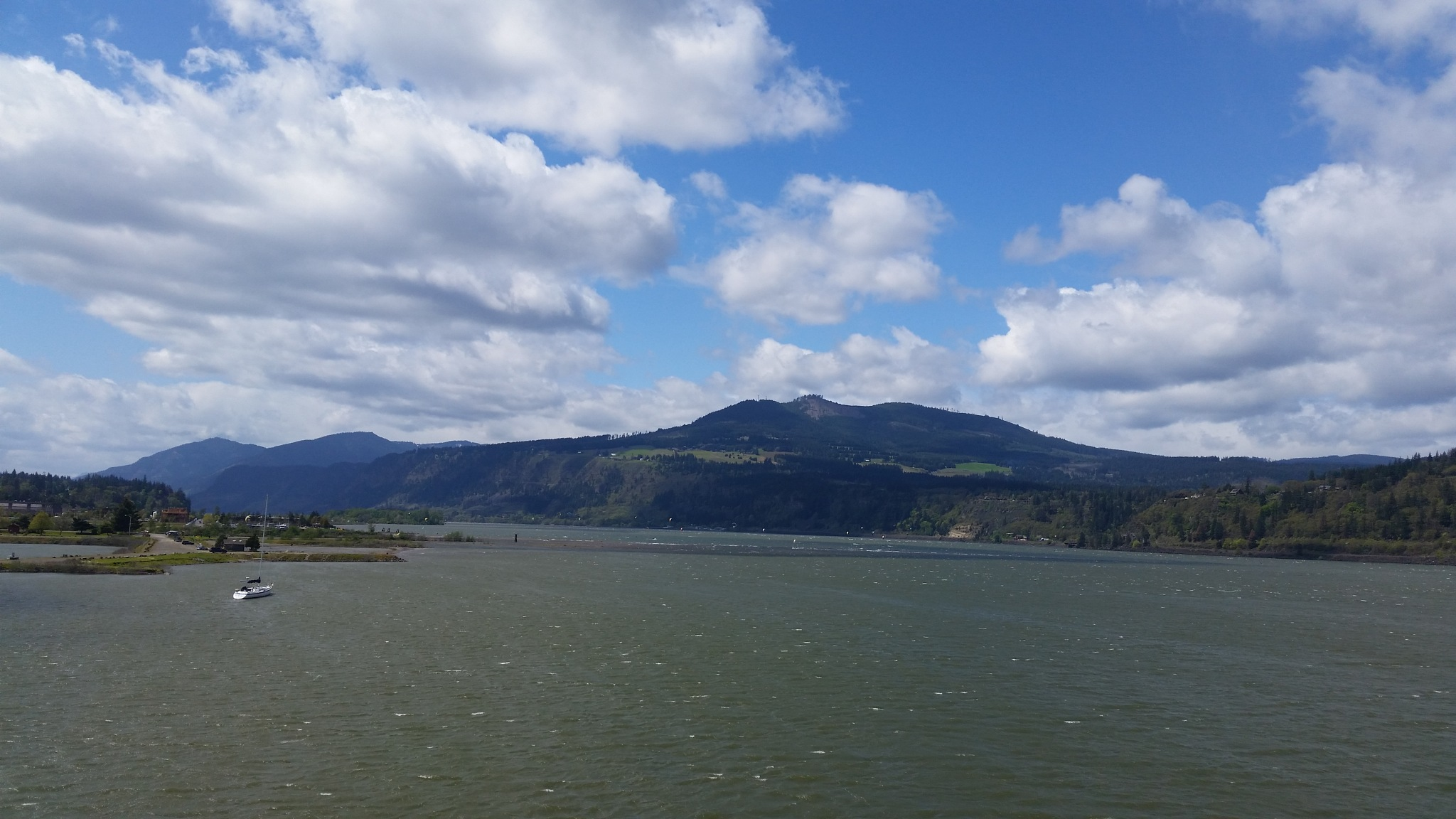 Columbia River Gorge View From the Hood River Bridge in Oregon by B56