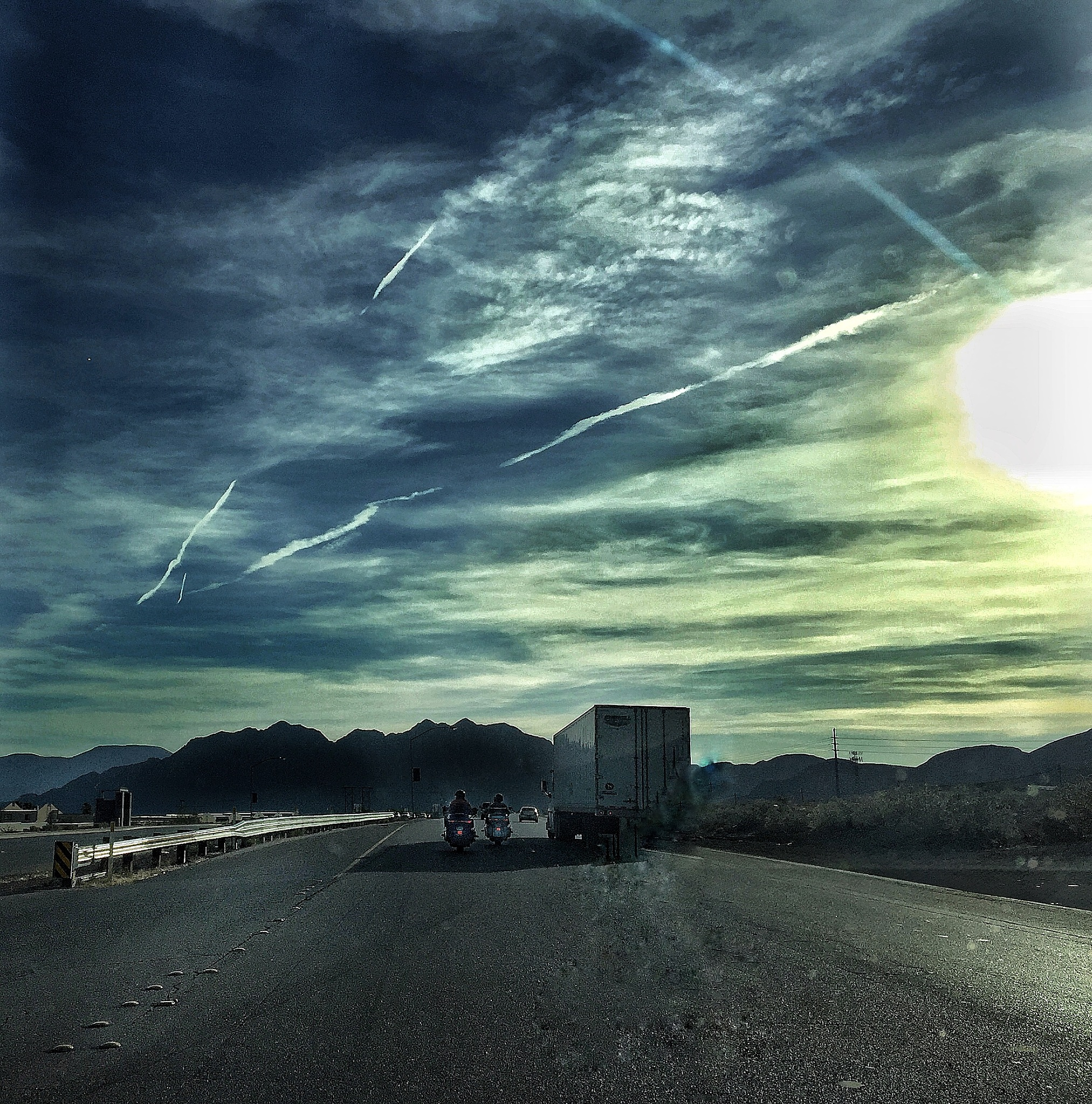 Nevada's Highway and 110 F by Walter Novak