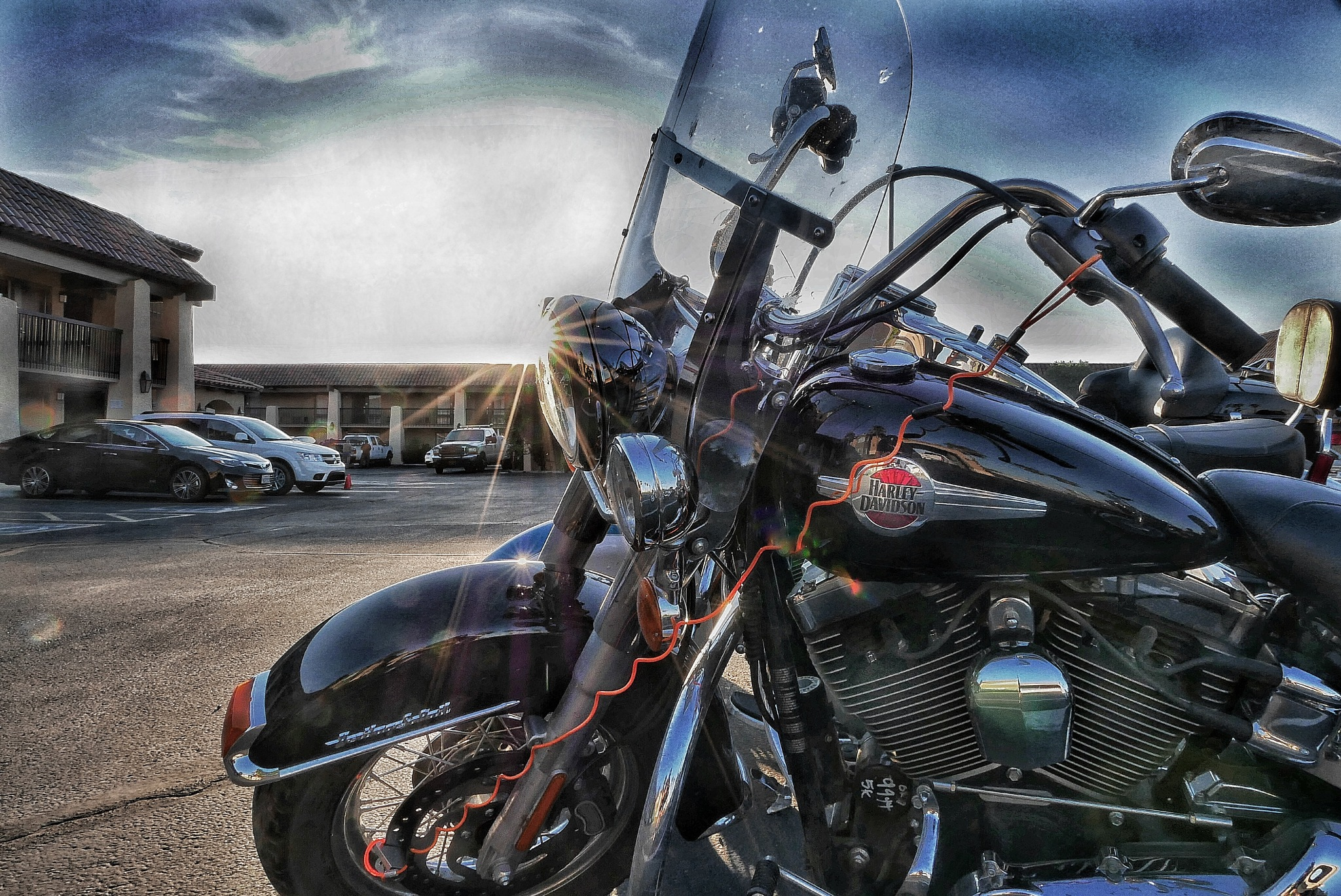 Early Morning Arizona- U.S.Route 66 by Walter Novak