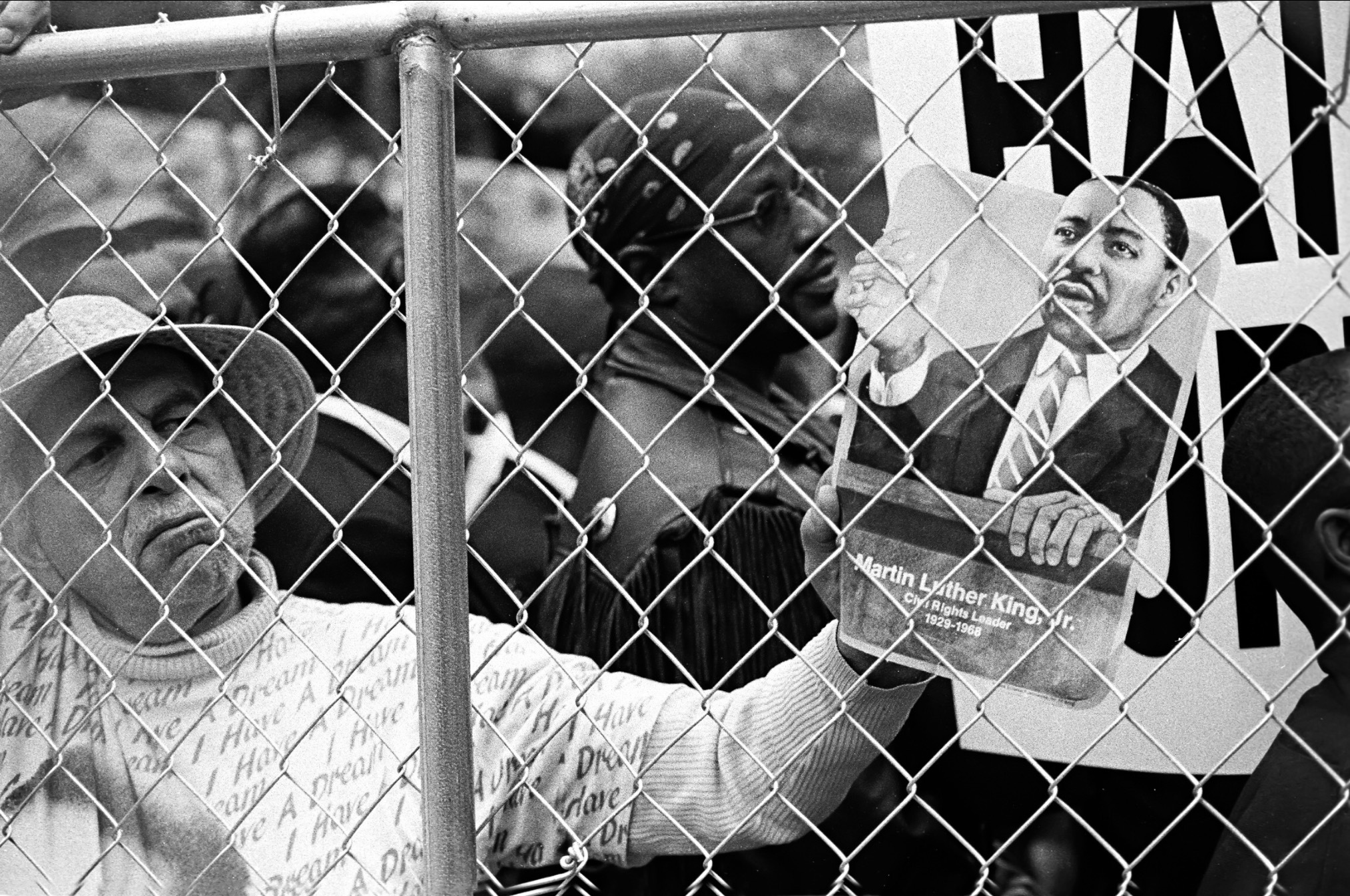 Protesters at KKK RALLY in Cleveland,Ohio 1999 by Walter Novak