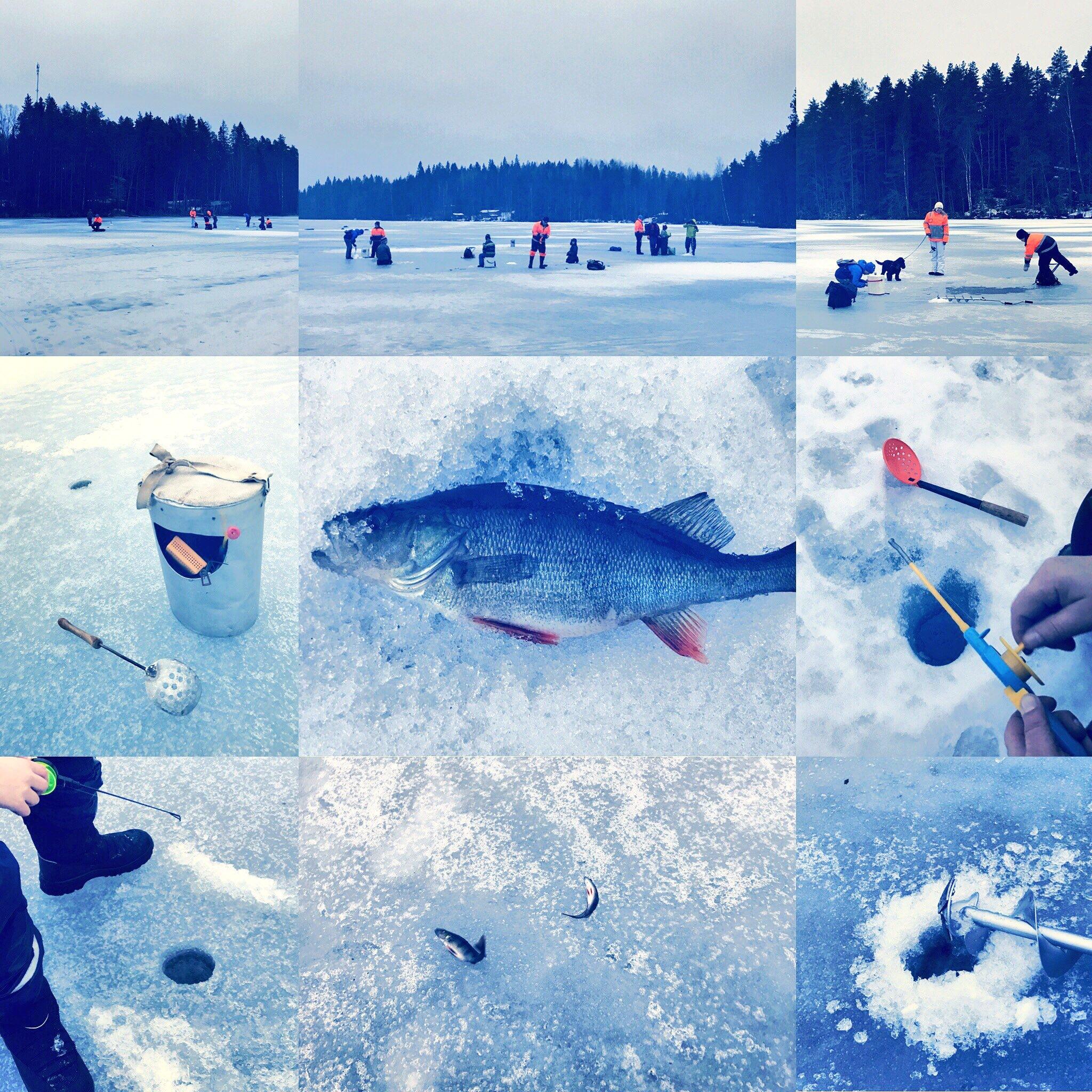 Ice fishing by Inka Maria Valtamo