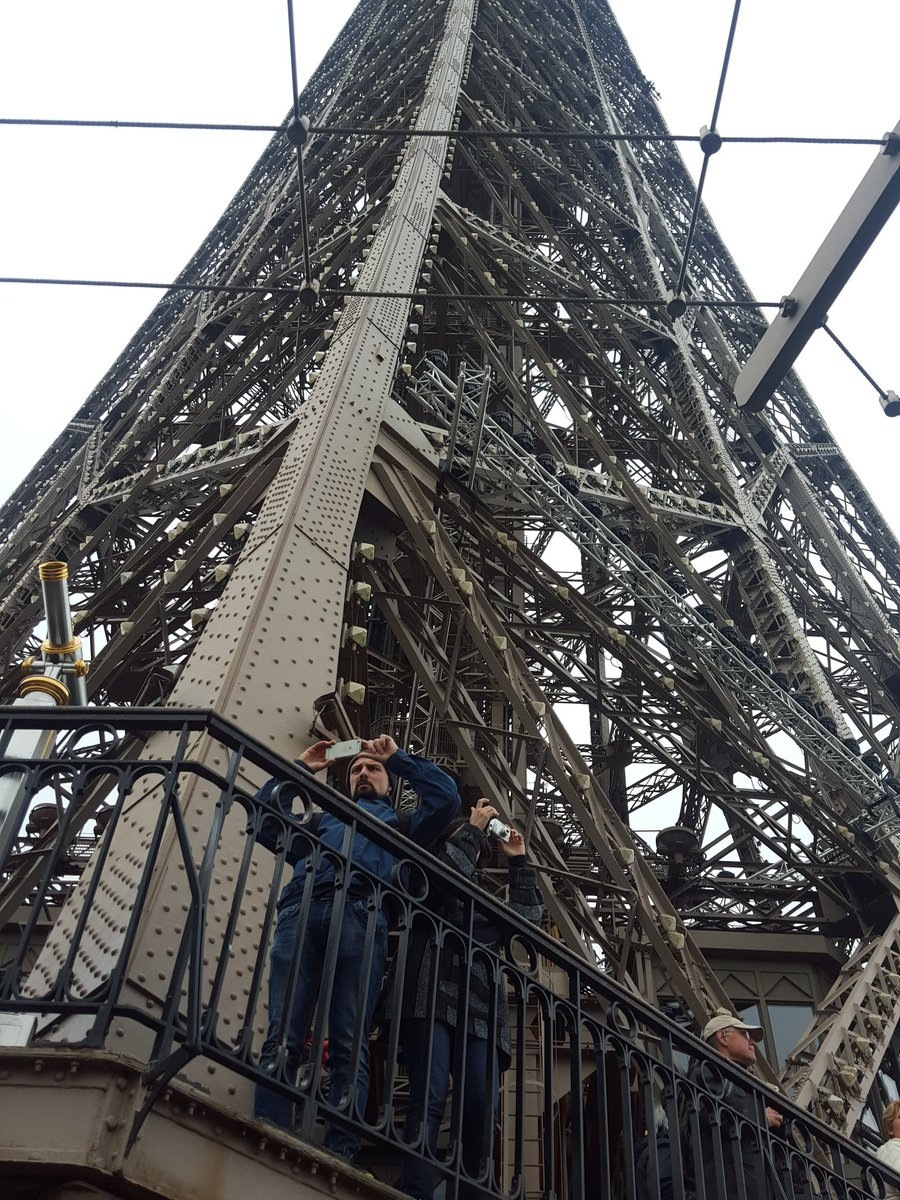 On the Eiffel Tower by Syiqah A.