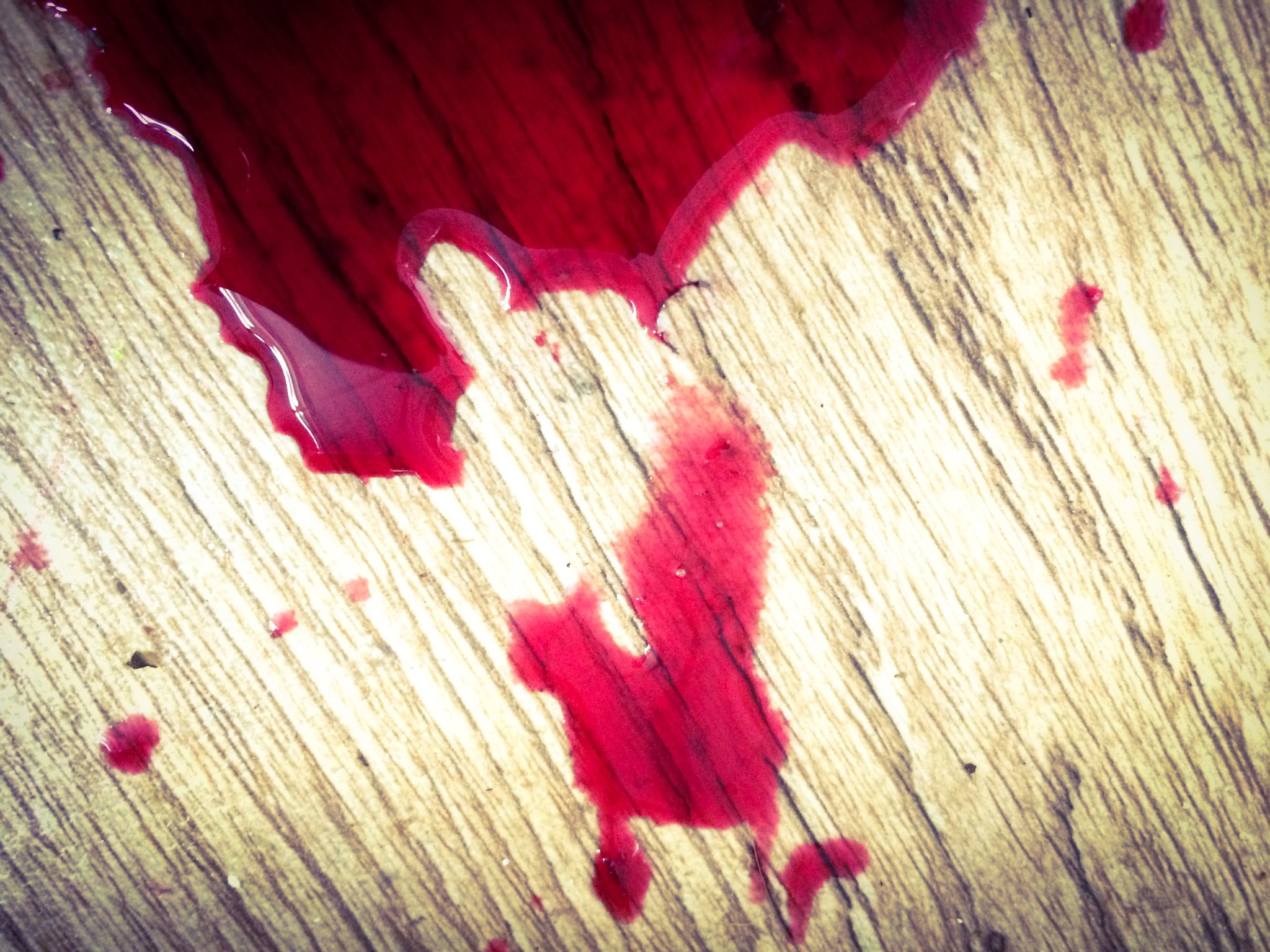 Spilt Beetroot (on the kitchen floor)  by Tracey Glazebrook