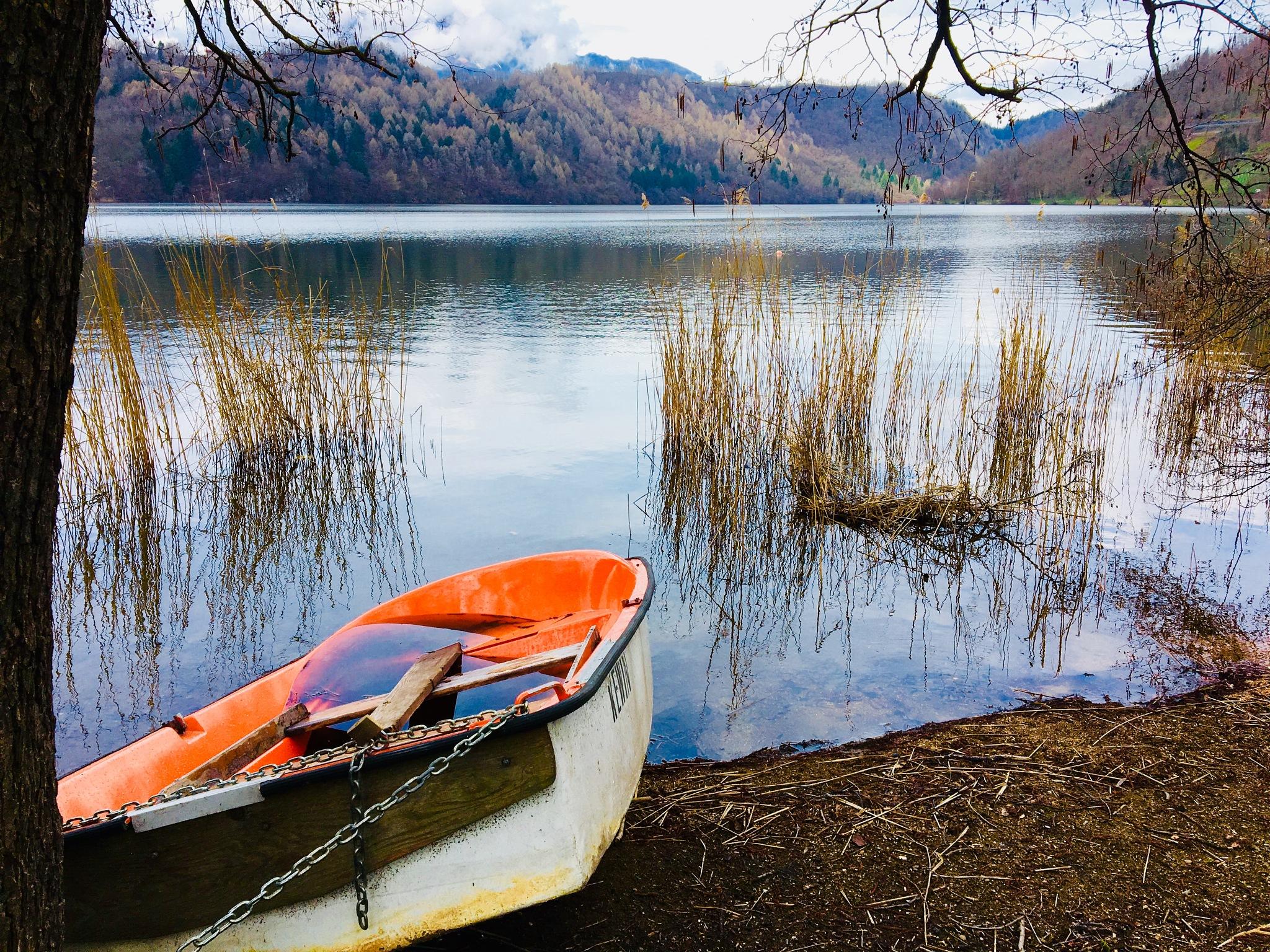 Lévico lake by ceciliacarcamo