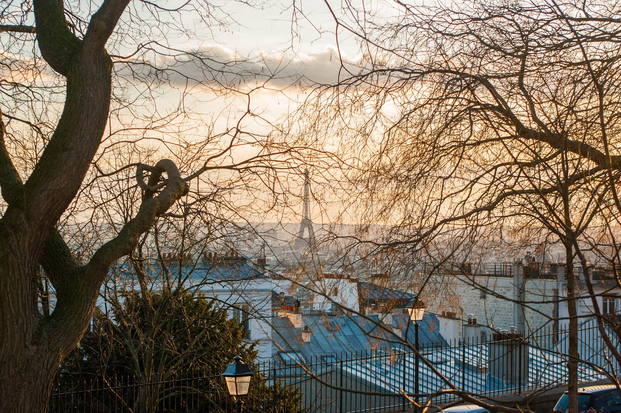 A view from the Montmartre by Teodor Bordeianu