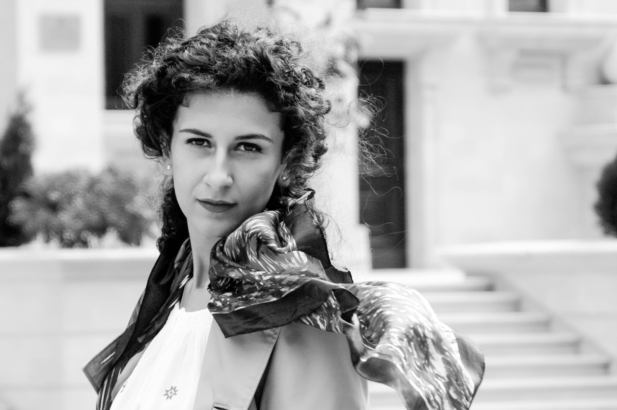 Girl with scarf by Teodor Bordeianu