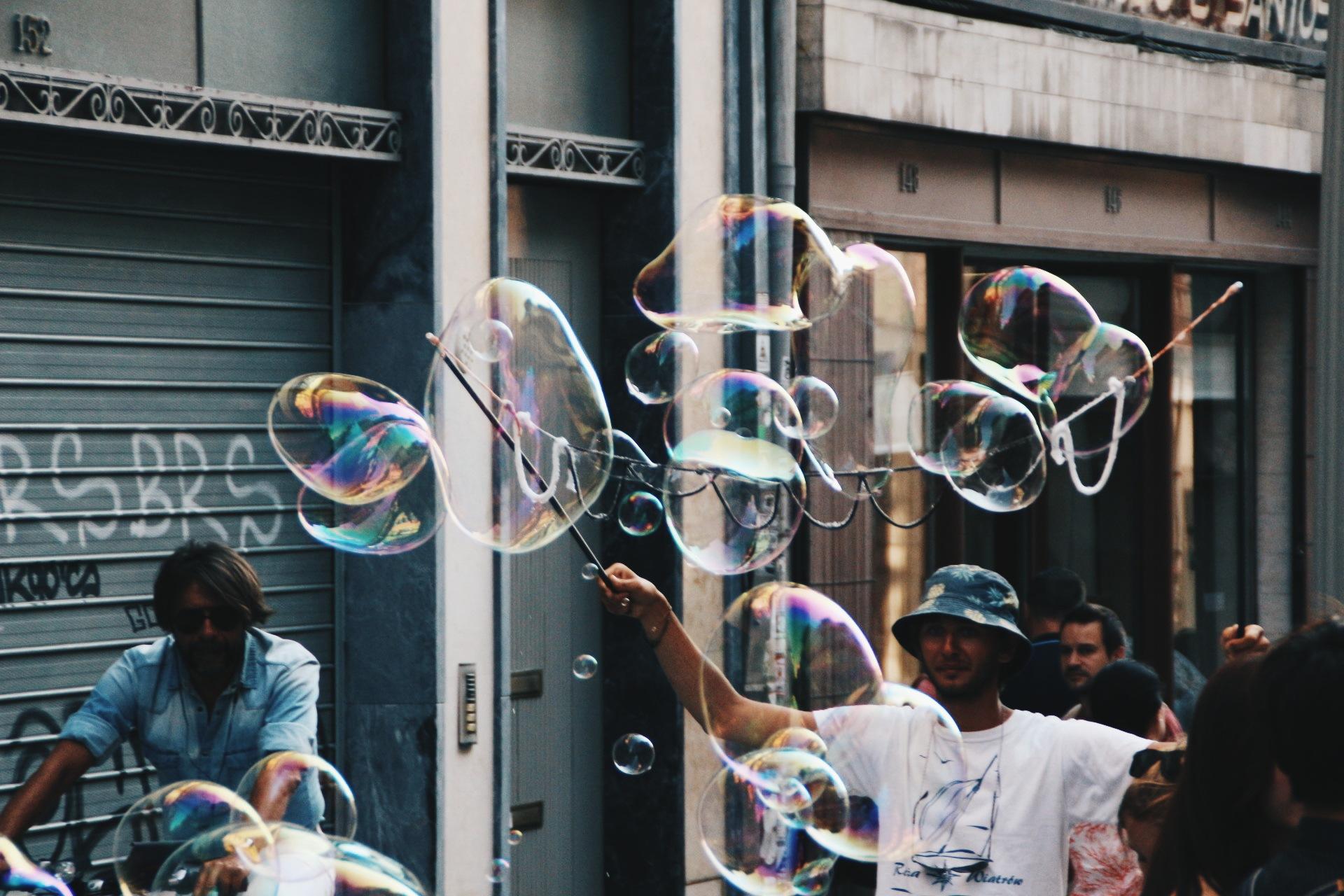 Bubbles in the street by tessaklok