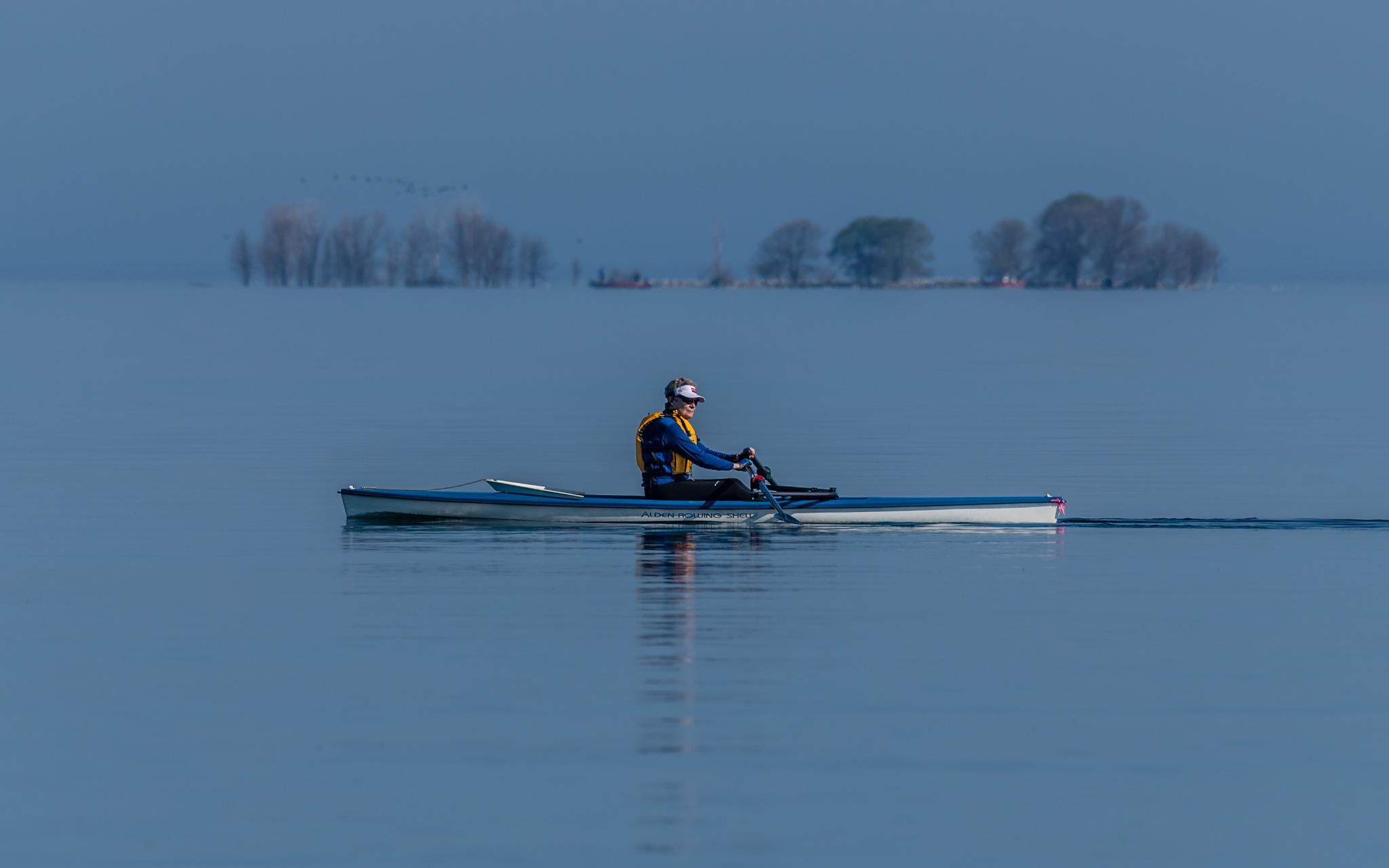 Beautiful morning on the lake Michigan by fadeevalexandre