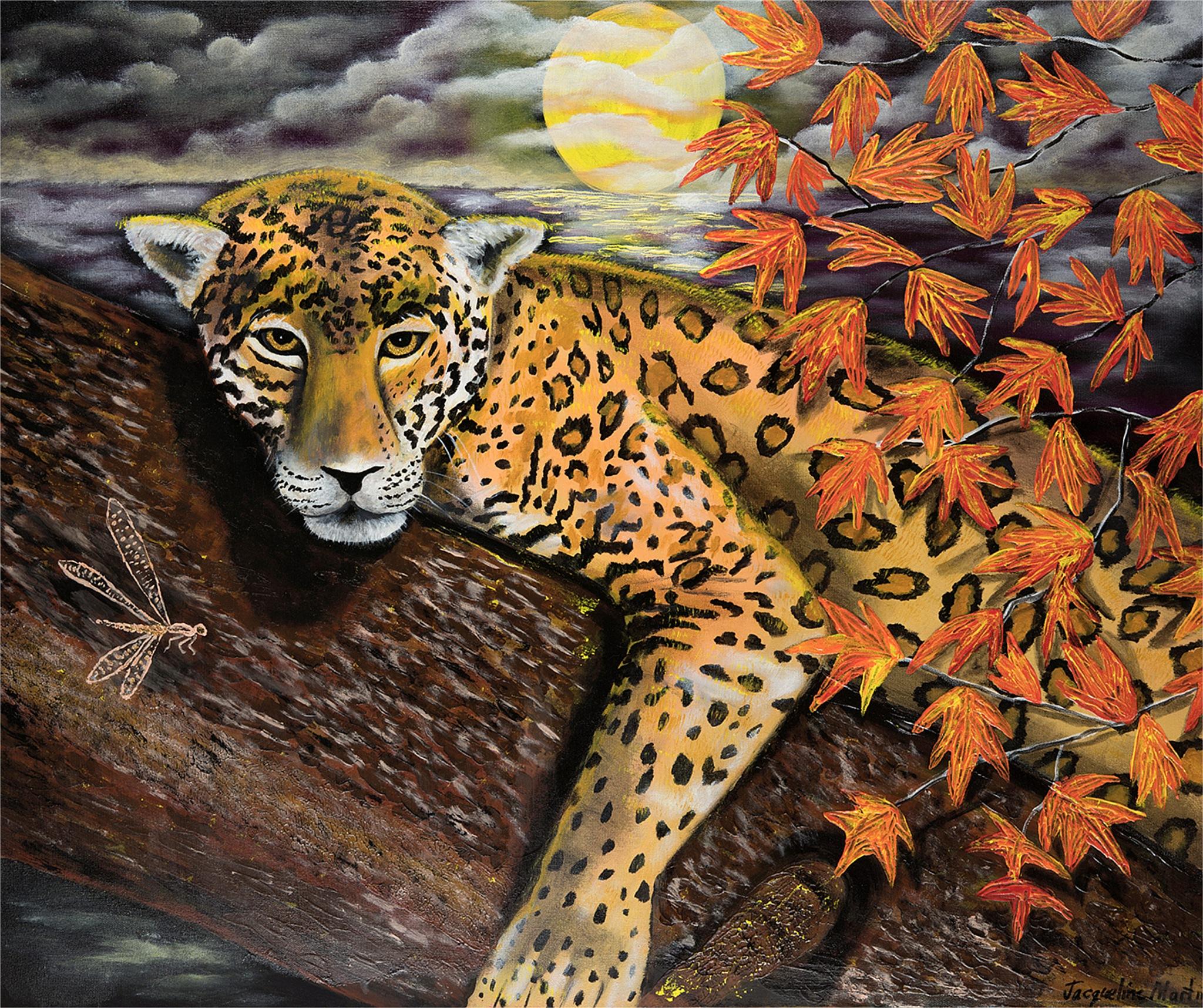 Autumn Jaguar by jacquelinemartinart