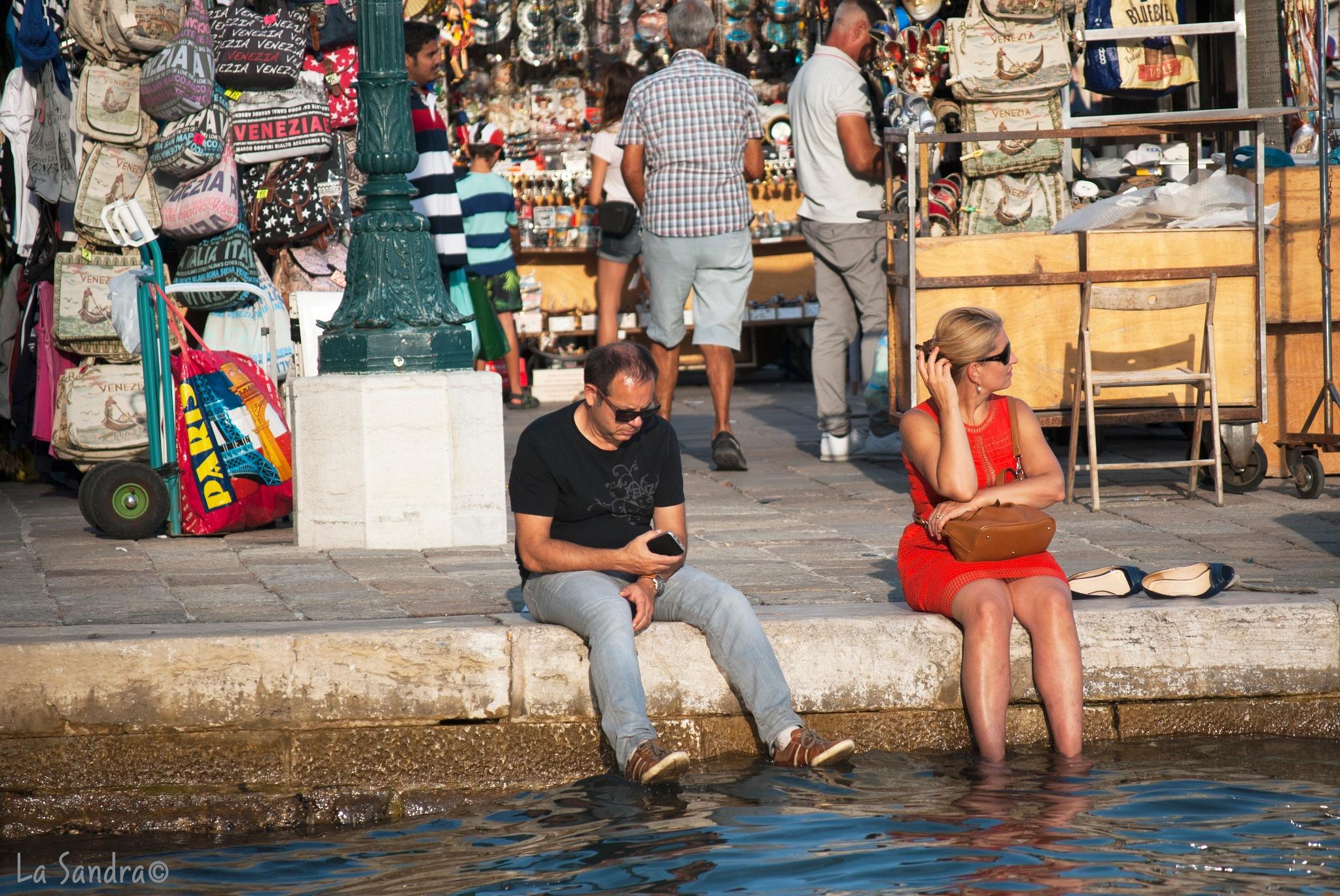 Turisti a Venezia by La Sandra