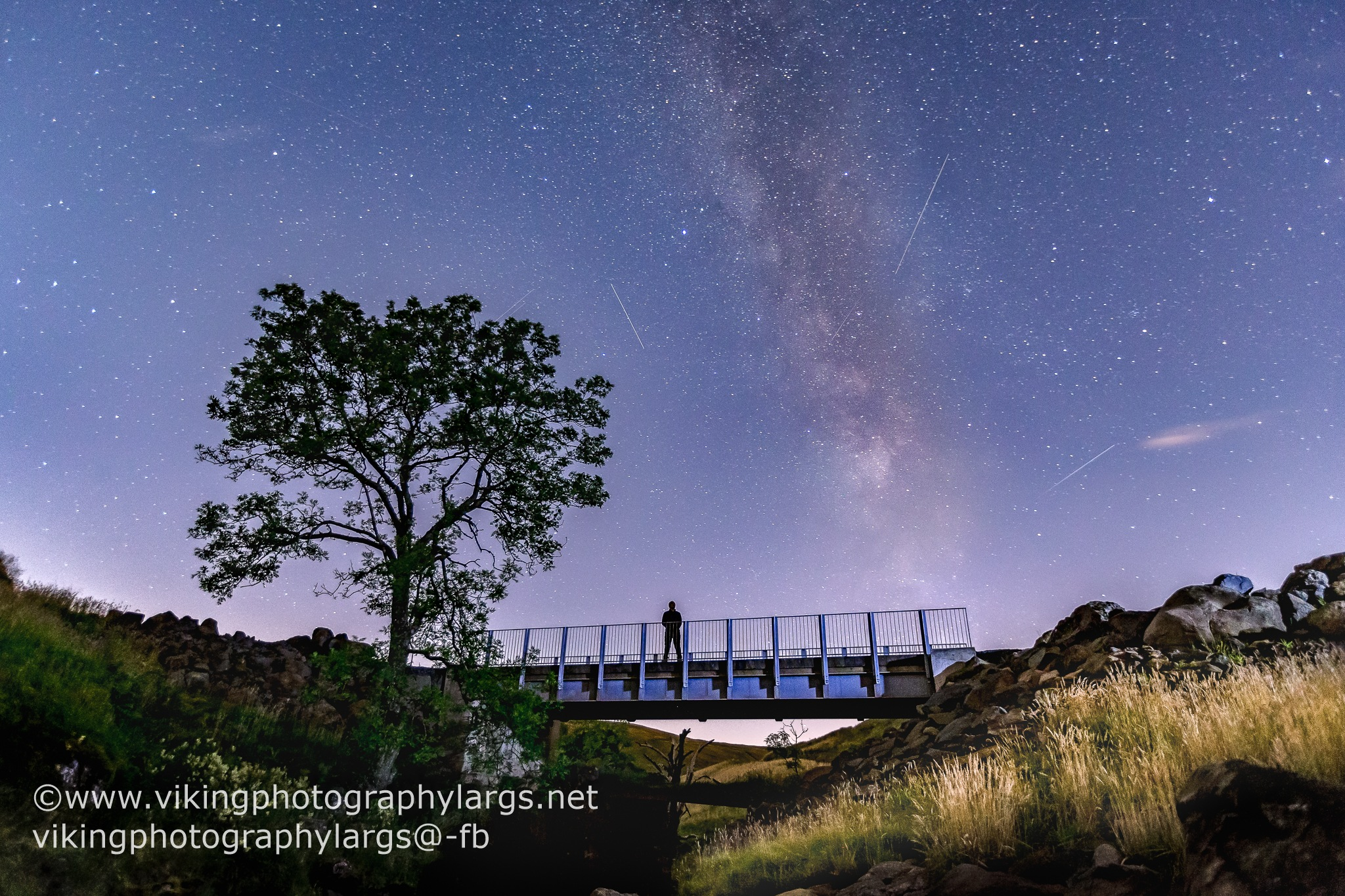 Meteors at the bridge by Mark Lynch