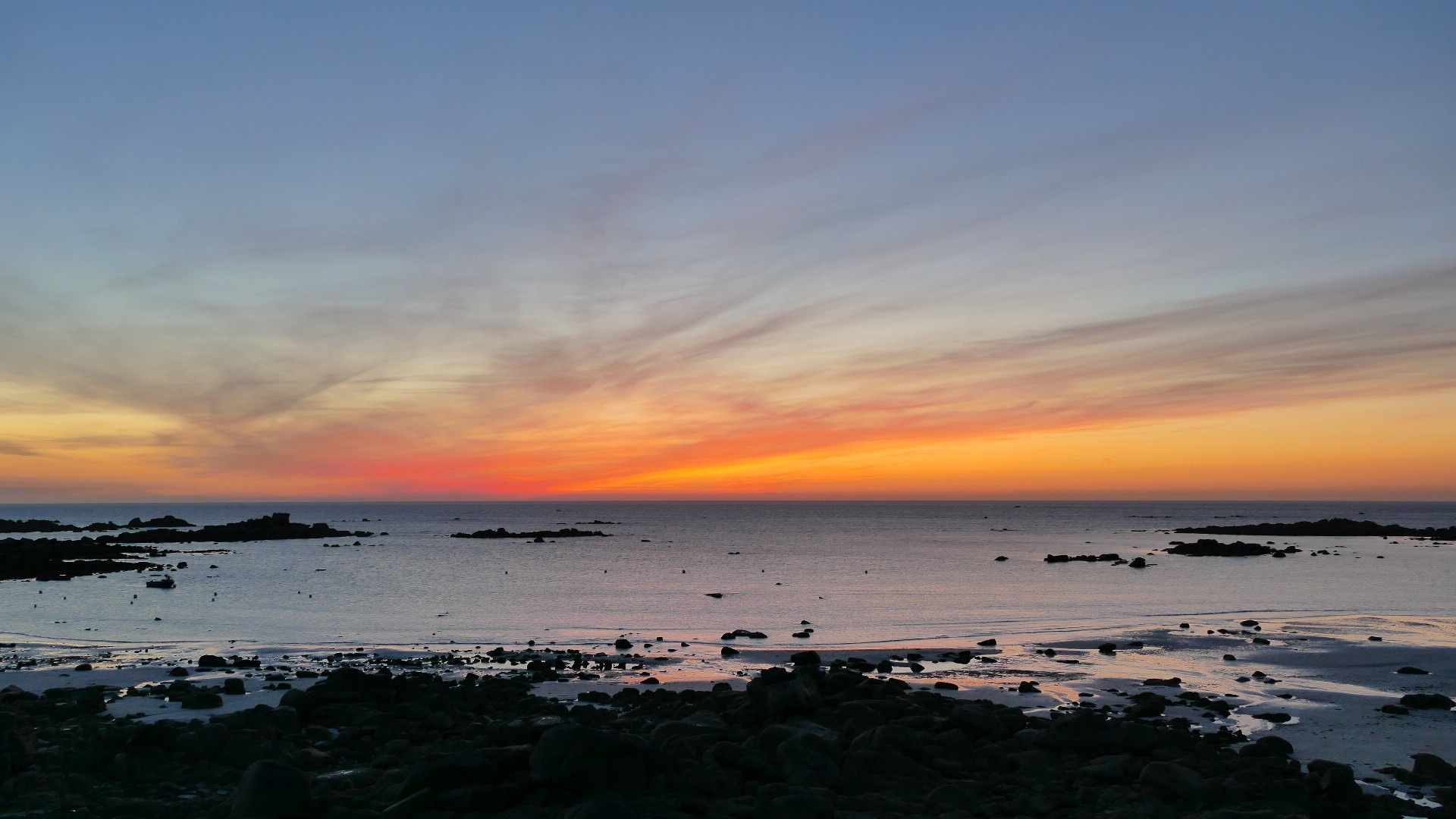 Sunset in Brittany by Michele Lisa