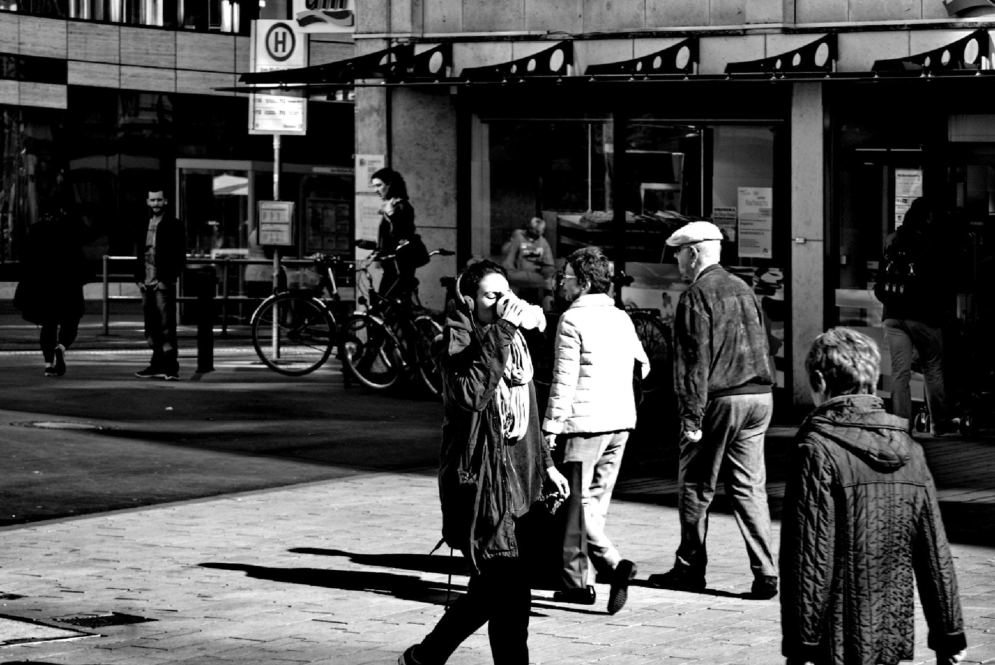 . . . . ... the way through the city, with coffee and music by Underground Photography