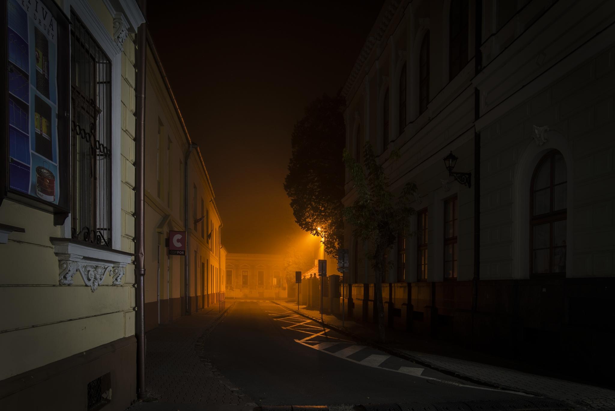 Night street by Jožo Kozlok