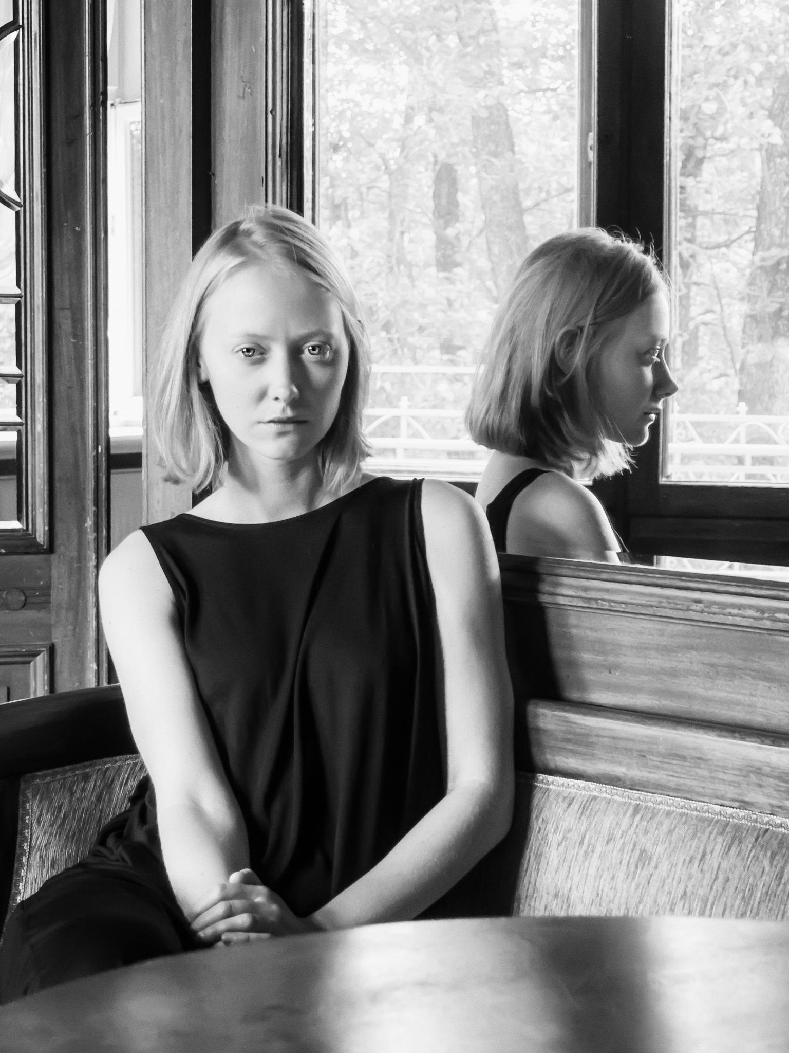 Portrait at the mirror by Tomasz Banasiak