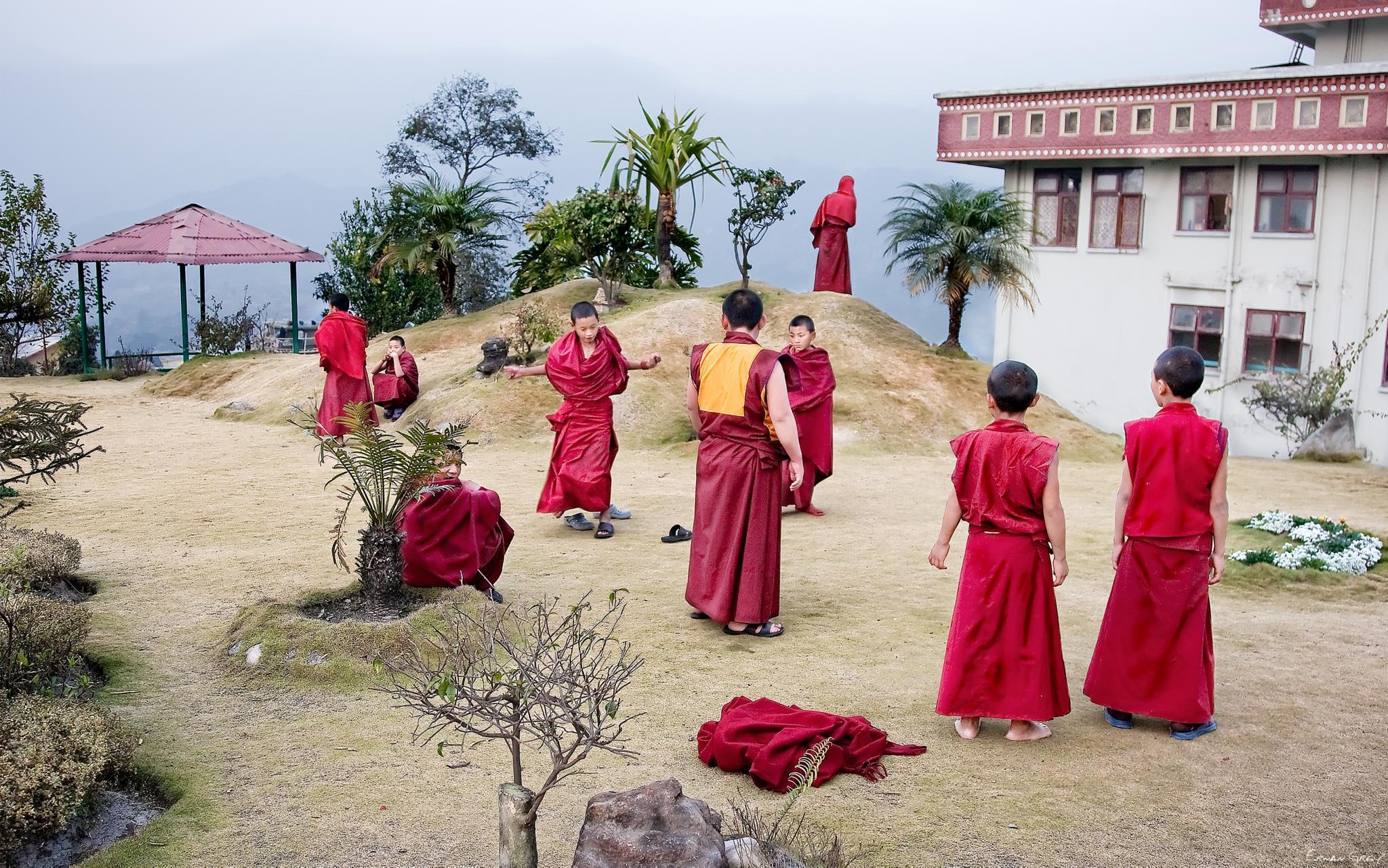 Photo in People #tibet #monks #lamas #buddhist #buda #enlightment #tibetan #dharma