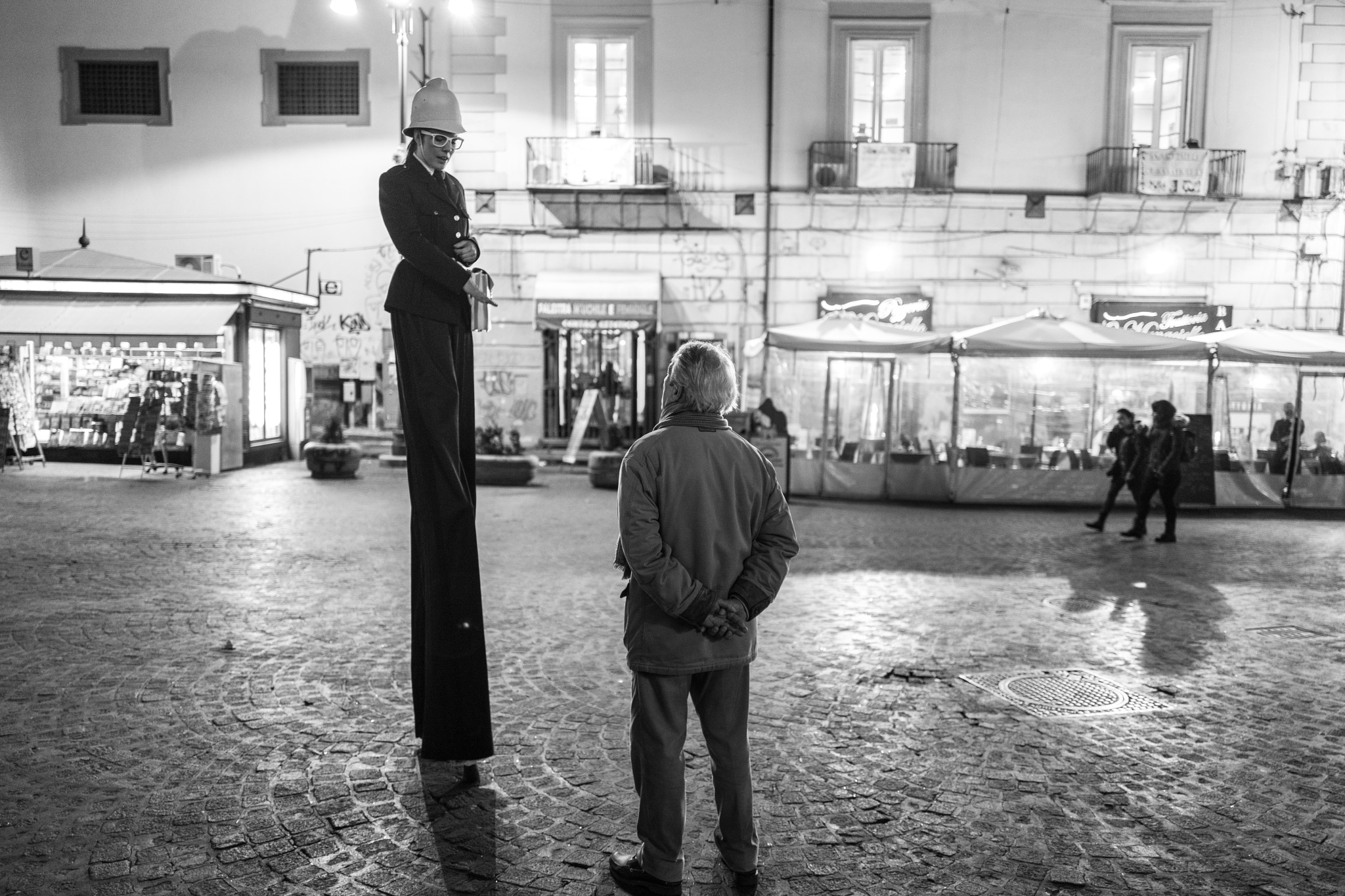 the little man and the high policeman... by federicorighi