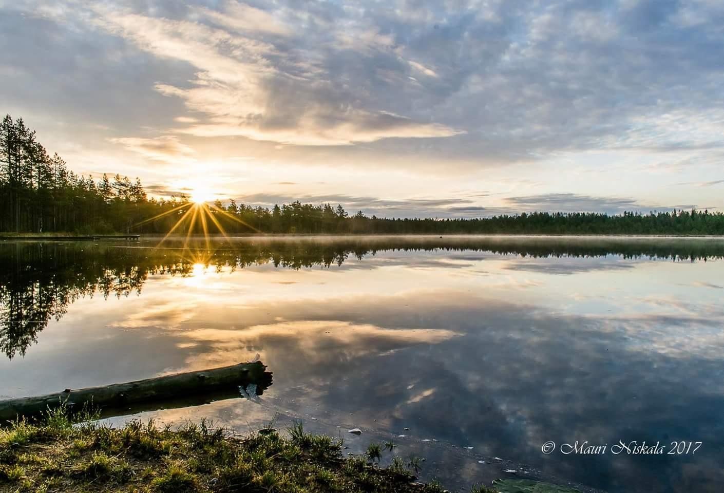 Lake Karhukorpi this morning ...   by Mauri Niskala