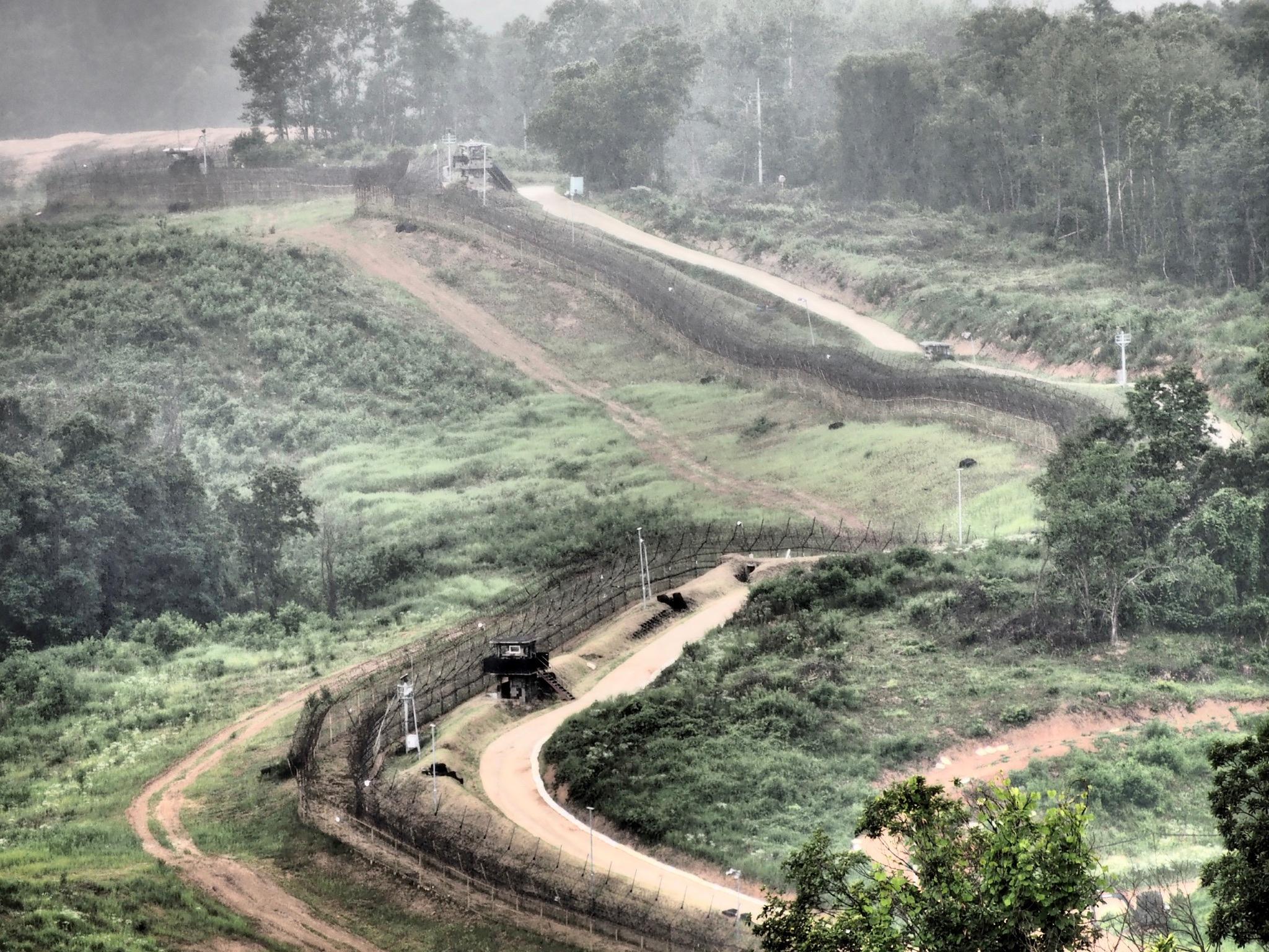 North and South Korean border by Dietrik Vr