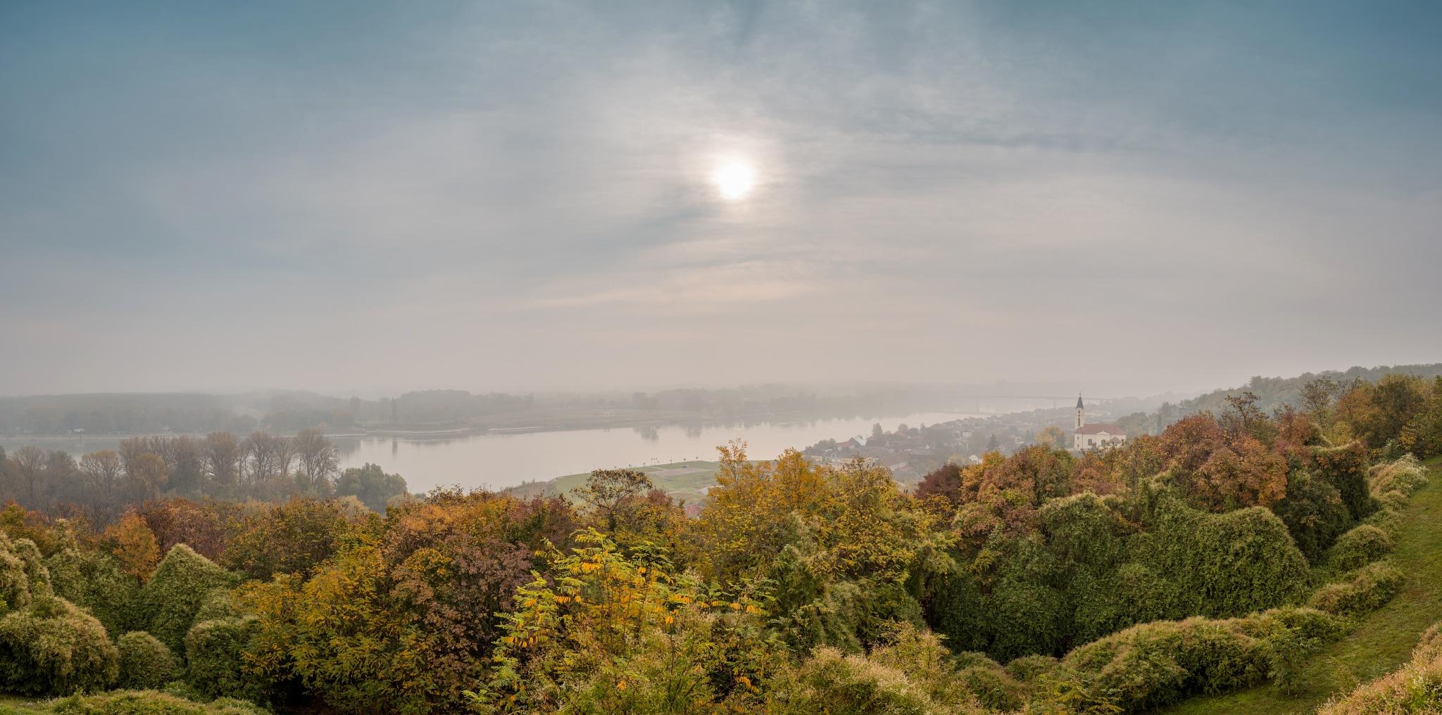 Batina on the Danube-Panorama by Nenad Milic