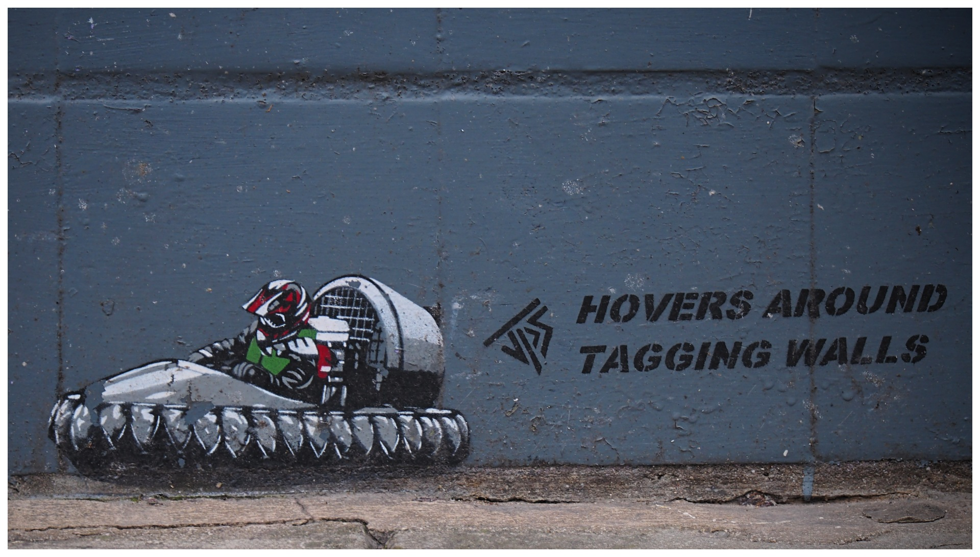 Hovers Around Tagging Walls by MorpheusDreaming
