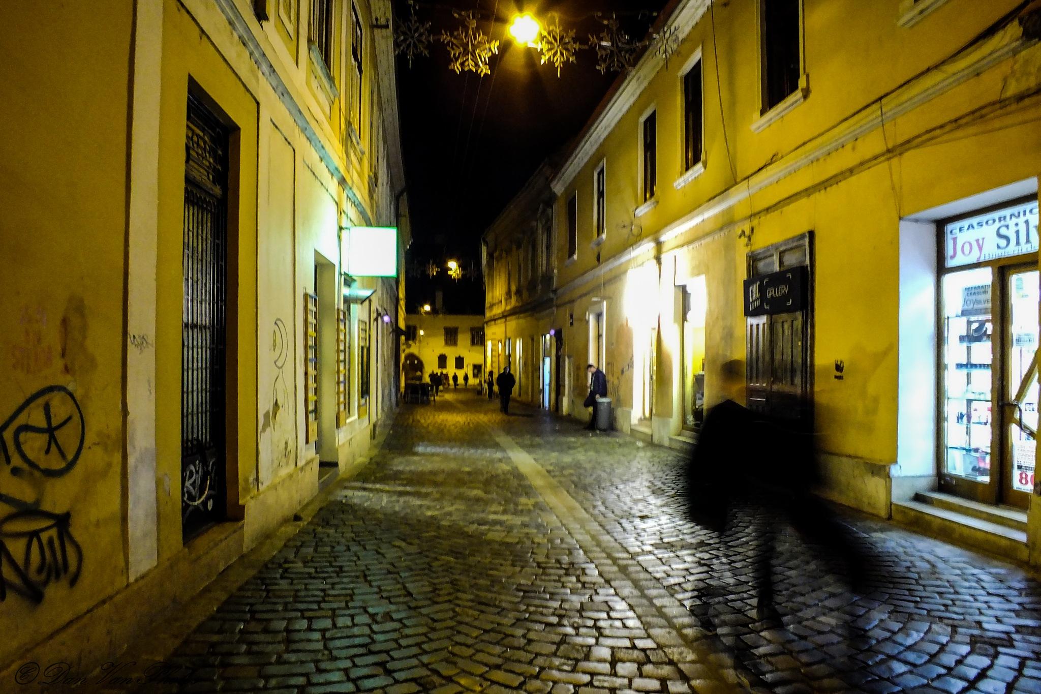 Street by the night by Dan Alexandru Vancea