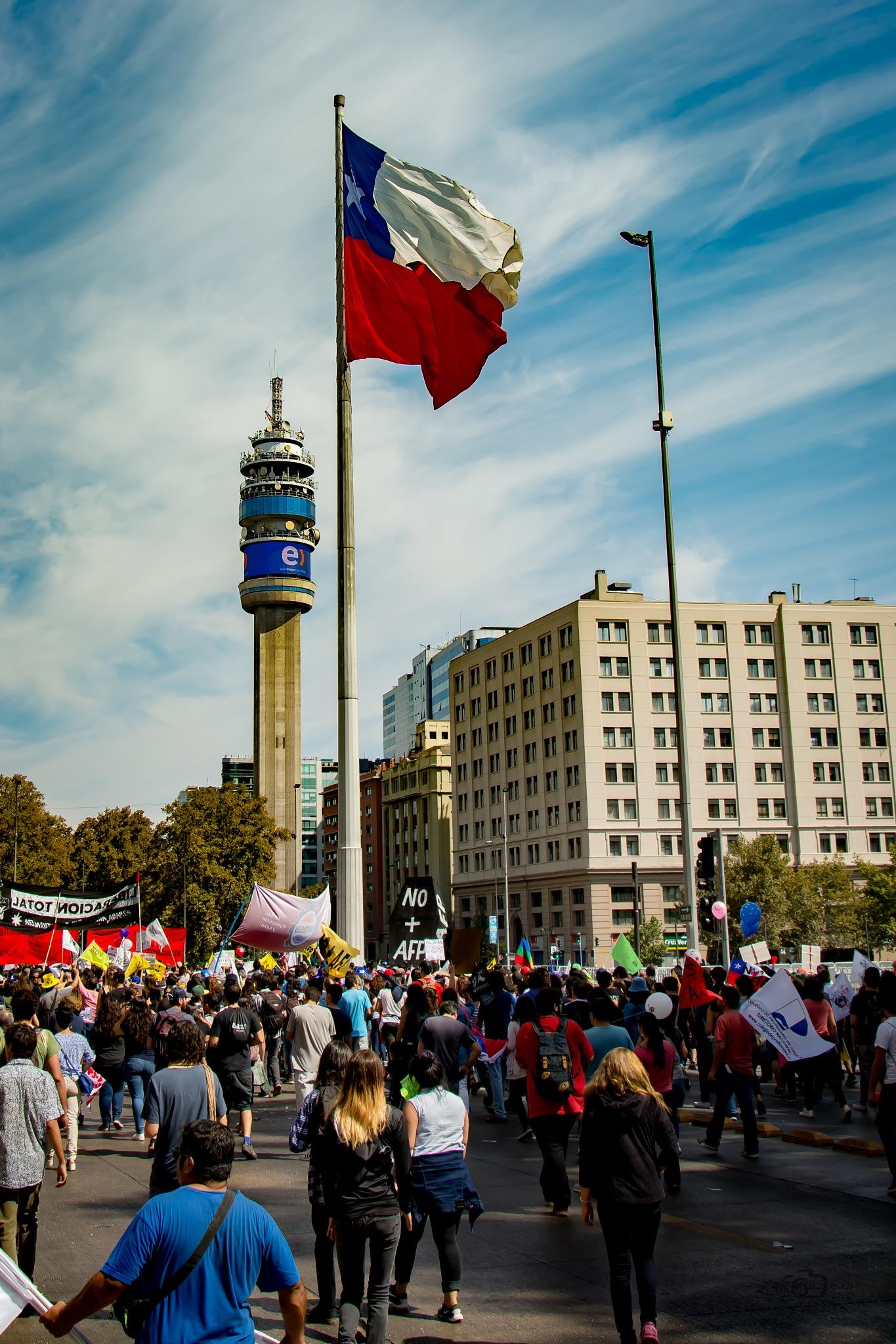 Bandera Chilena by Lalo Guzmán
