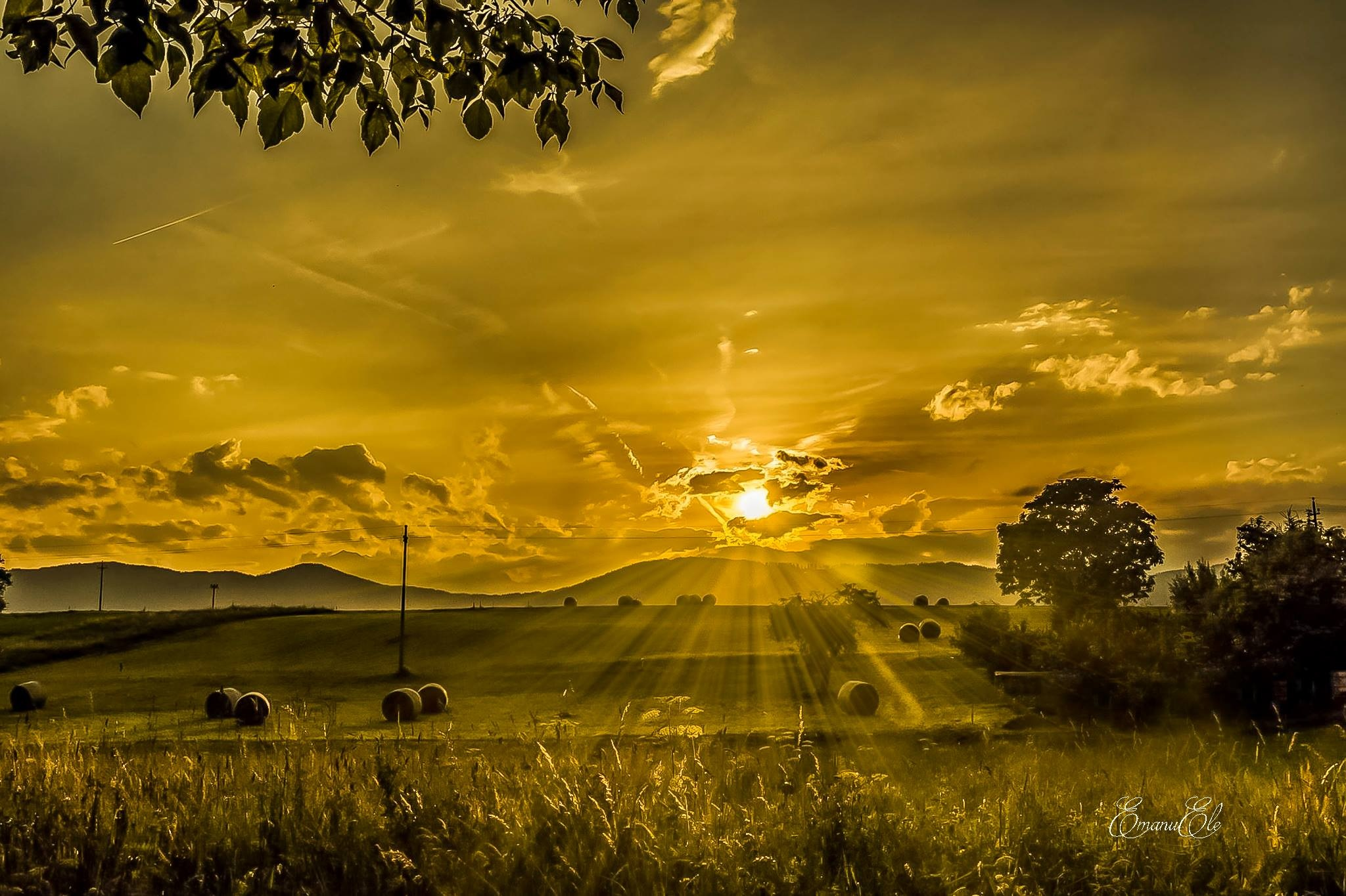 Sunset Val di Non Trentino Italy  by Emanu Ele Timpone