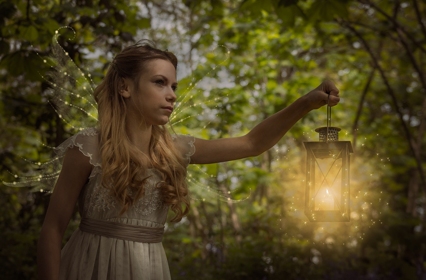 Photo in Portrait #girl #forest #fairies #lamp #fairy #mystical #magical #wings #candle #candlelight #pretty