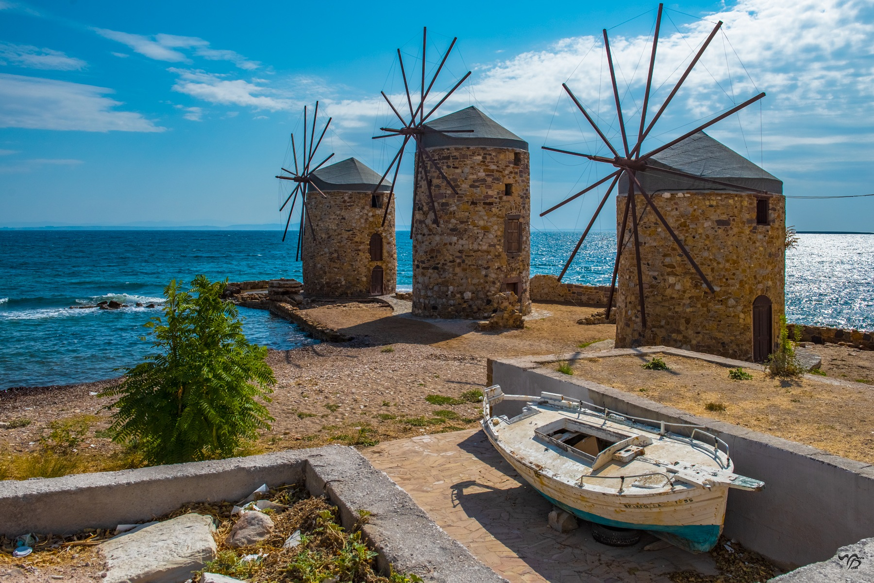 Windmills on the island of Chios... by Dedem