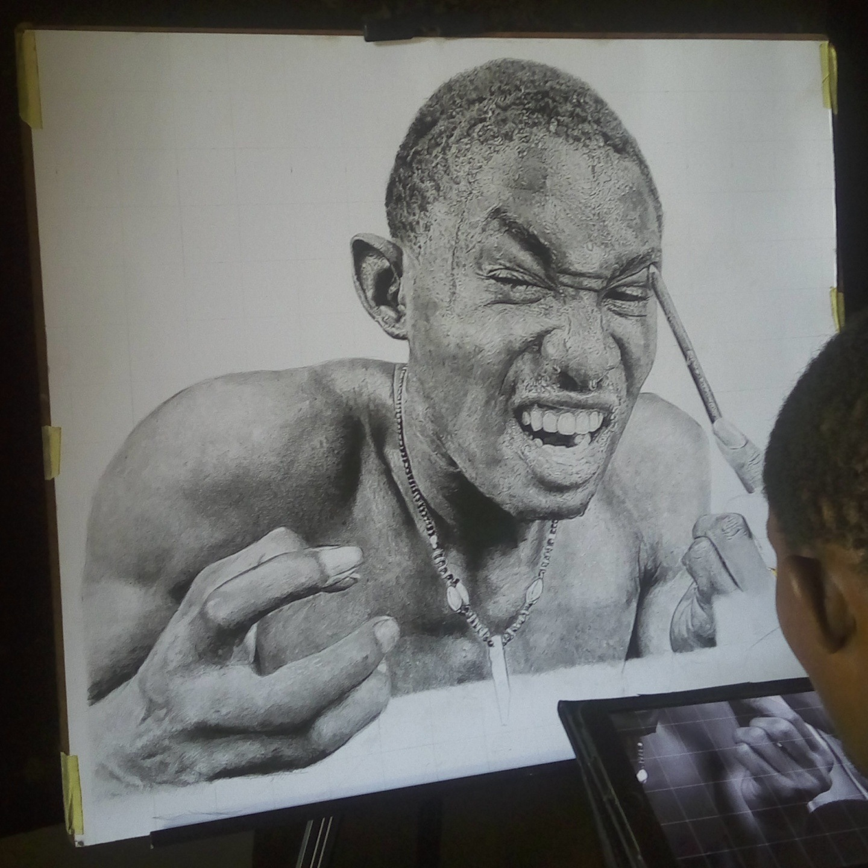 "Struggle ""self portrait"" by Oliscoart"