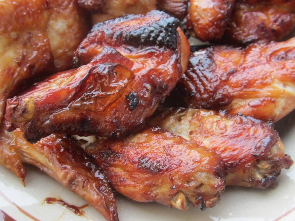 Grilled chicken wing with honey by amie