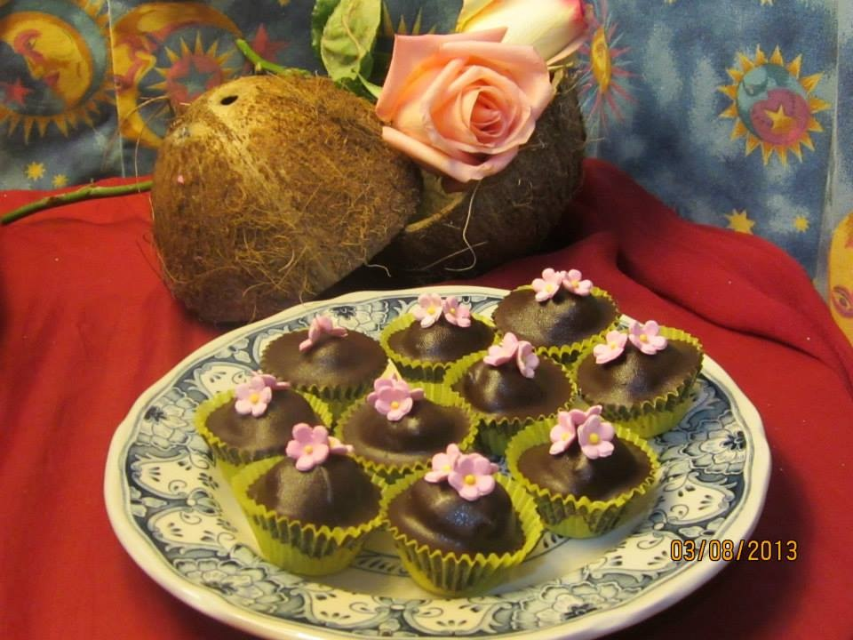 Chocolate coconut balls by amie